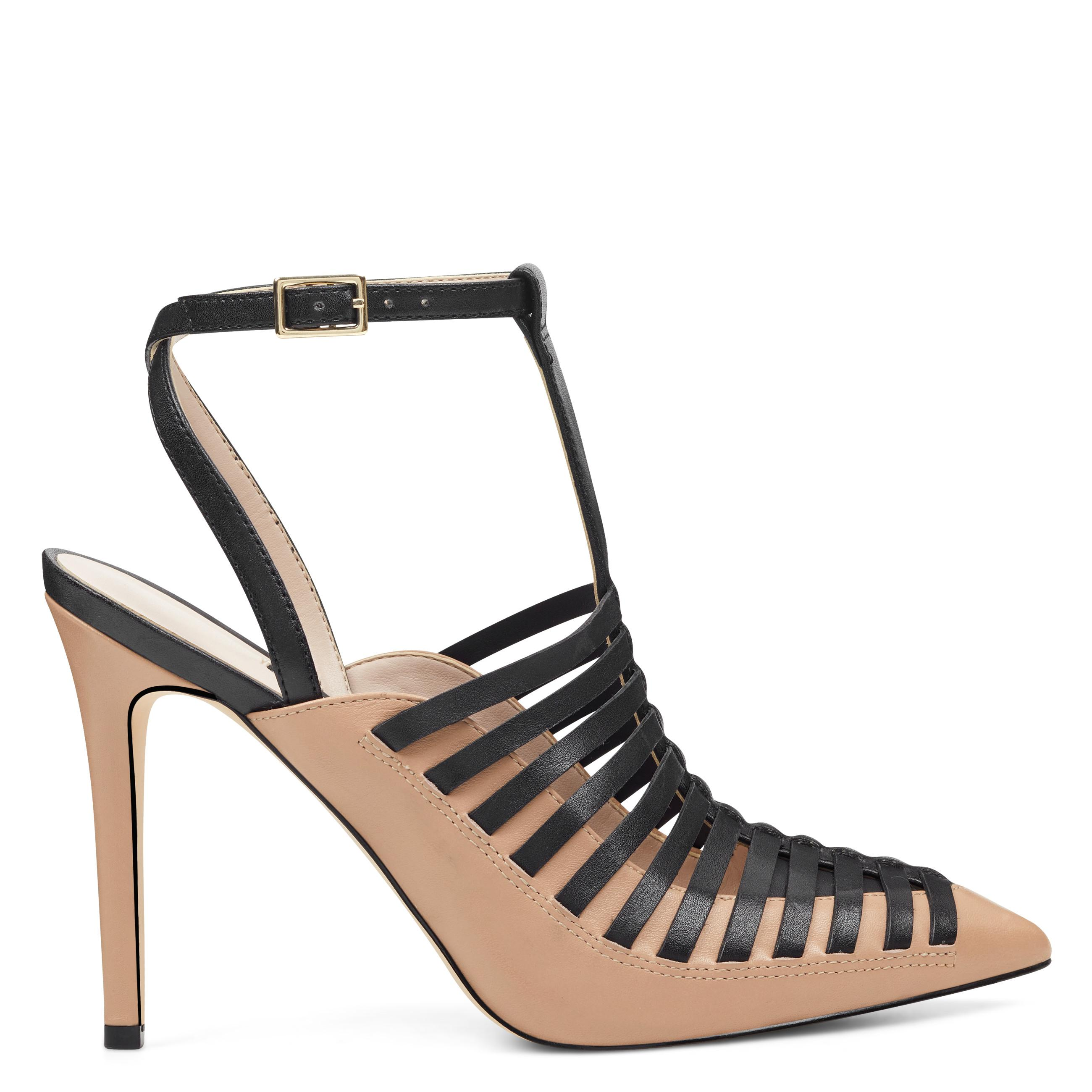 6072a9d5c67 Lyst - Nine West Tlank Strappy Pumps in Black - Save 64%