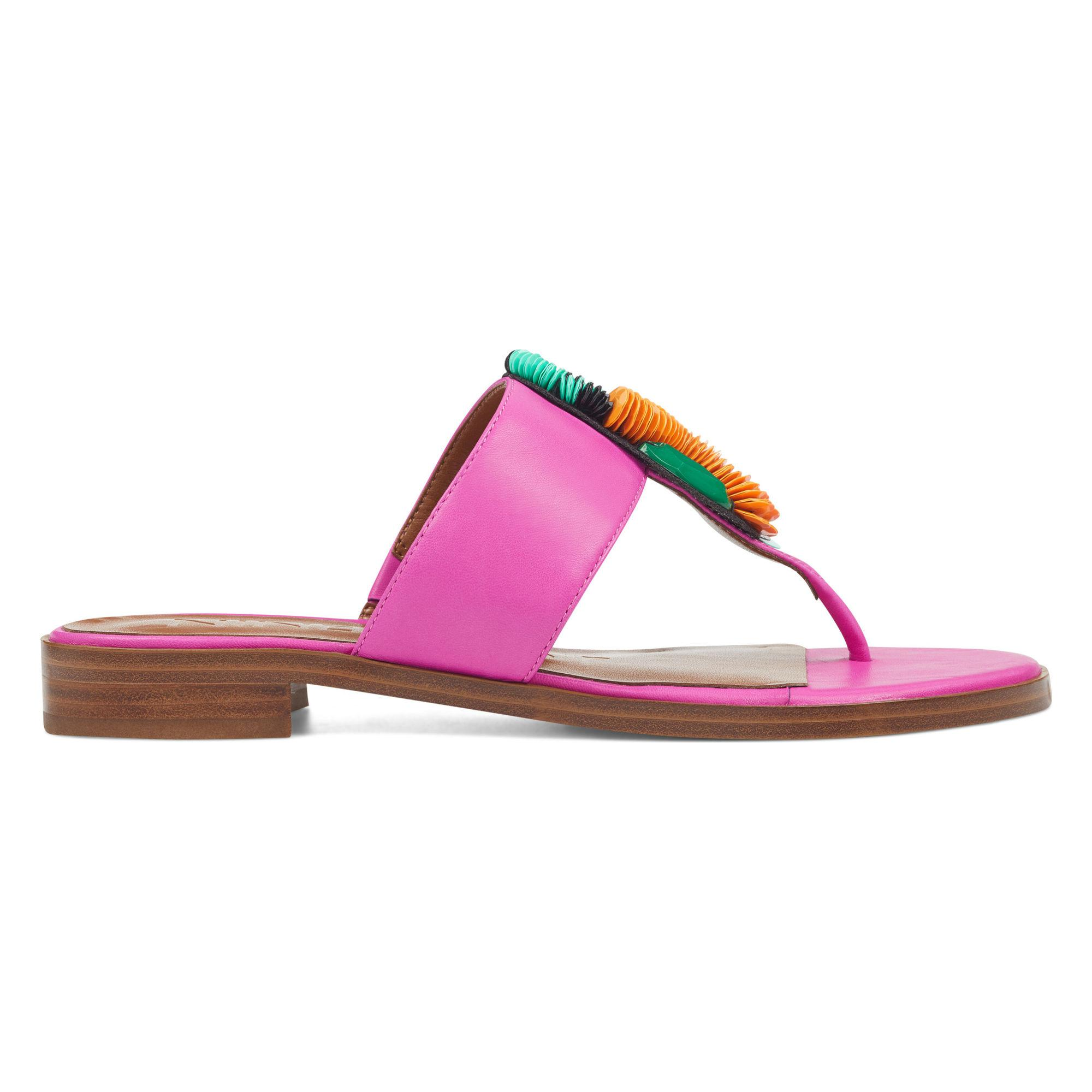 d1ad14695b775e Lyst - Nine West Roseriver Thong Sandals in Pink