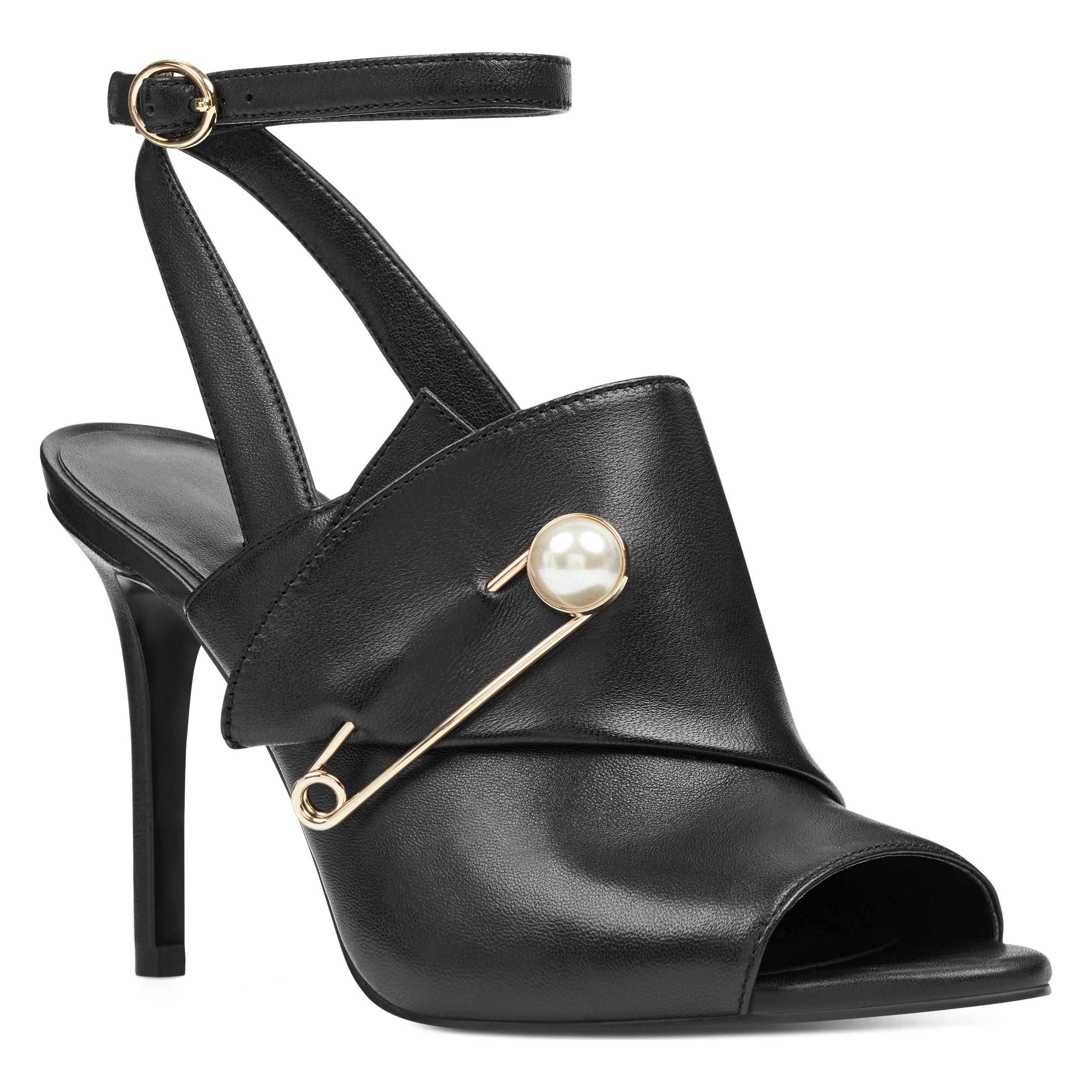 27a241b24e0344 Nine West - Black Matilde Ankle Strap Sandals - Lyst. View fullscreen