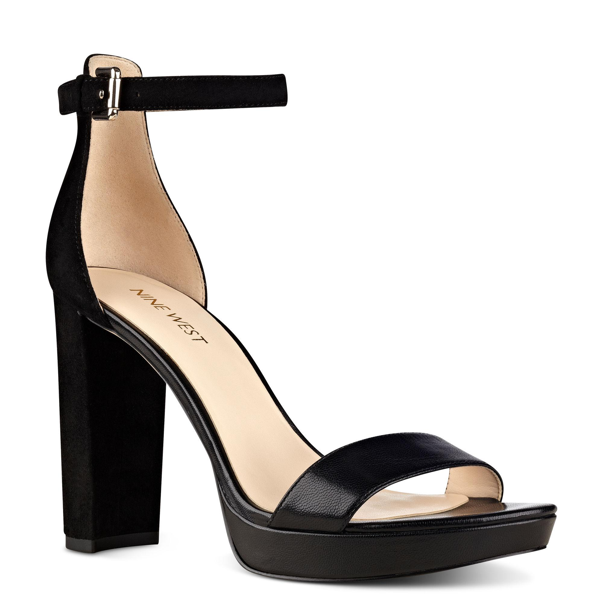 c871cd3c4ac Lyst - Nine West Dempsey Open Toe Sandals in Black