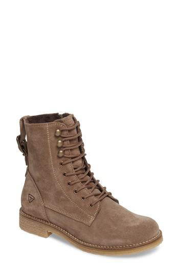 lyst tamaris crepona lace up bootie in brown. Black Bedroom Furniture Sets. Home Design Ideas