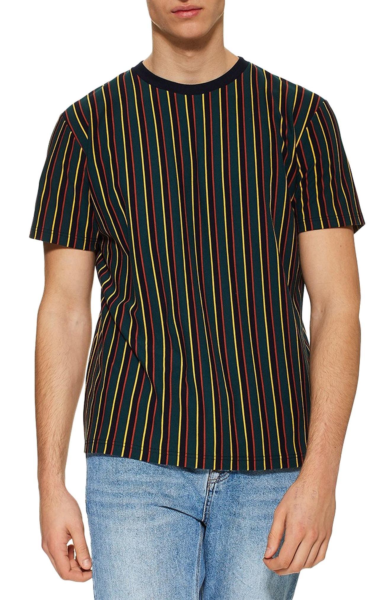 4b2a570a3b Lyst - TOPMAN Frank Stripe T-shirt in Blue for Men