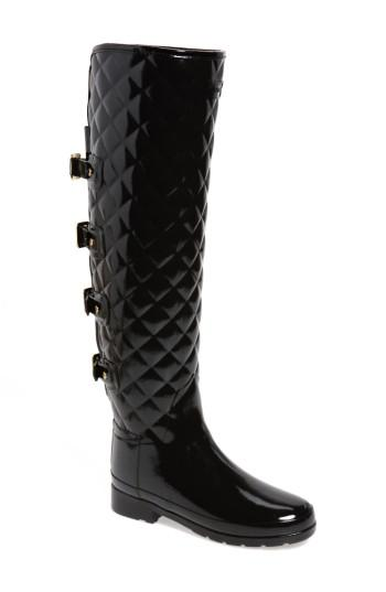 Lyst Hunter Refined Gloss Quilted Over The Knee Rain