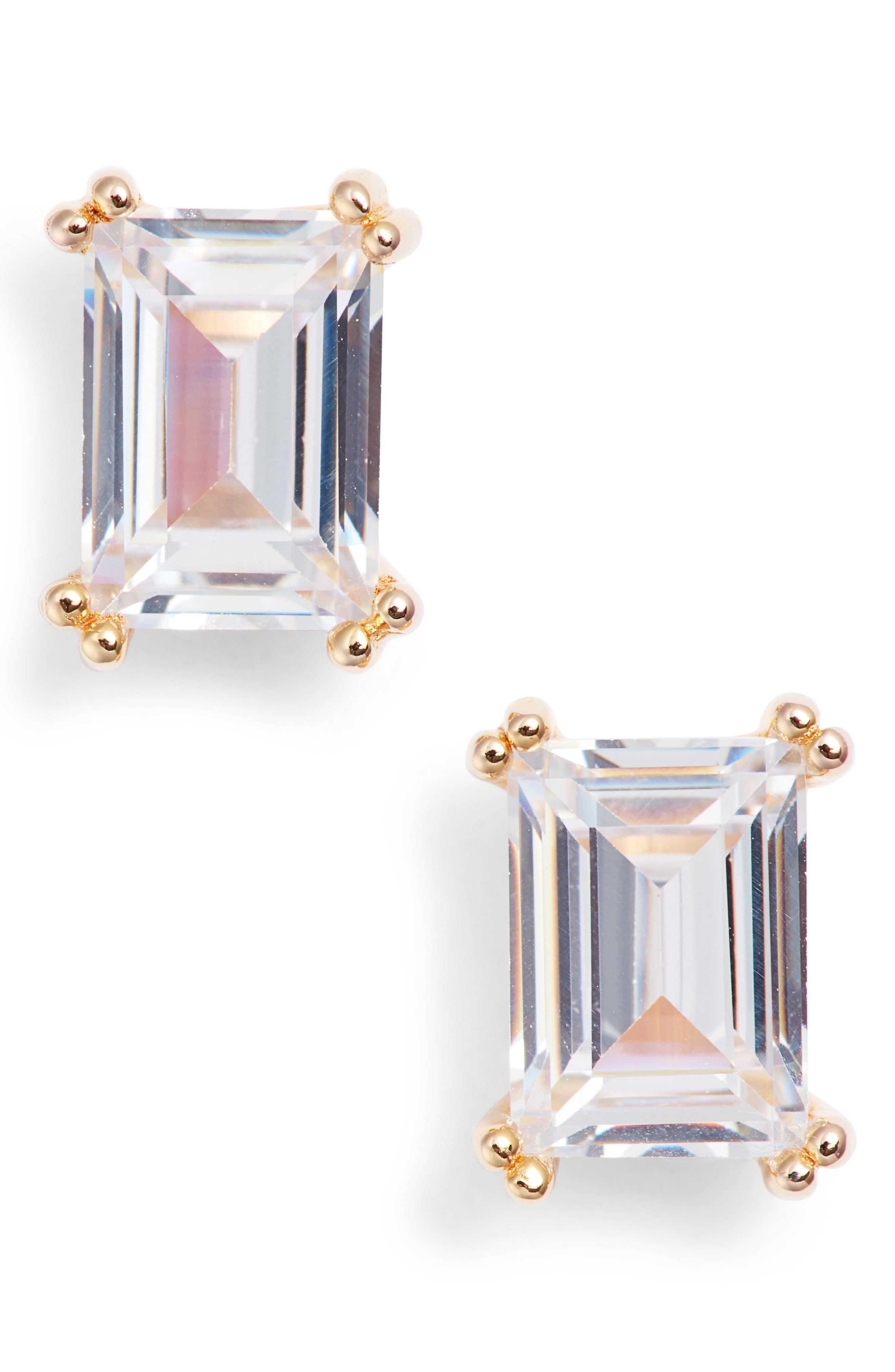 60e74f81151139 Lyst - Nordstrom 2ct Tw Cubic Zirconia Stud Earrings in Metallic