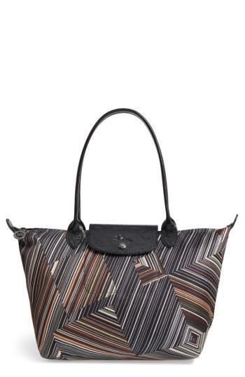4690cd9ac505 Lyst - Longchamp Op Art Nylon Tote
