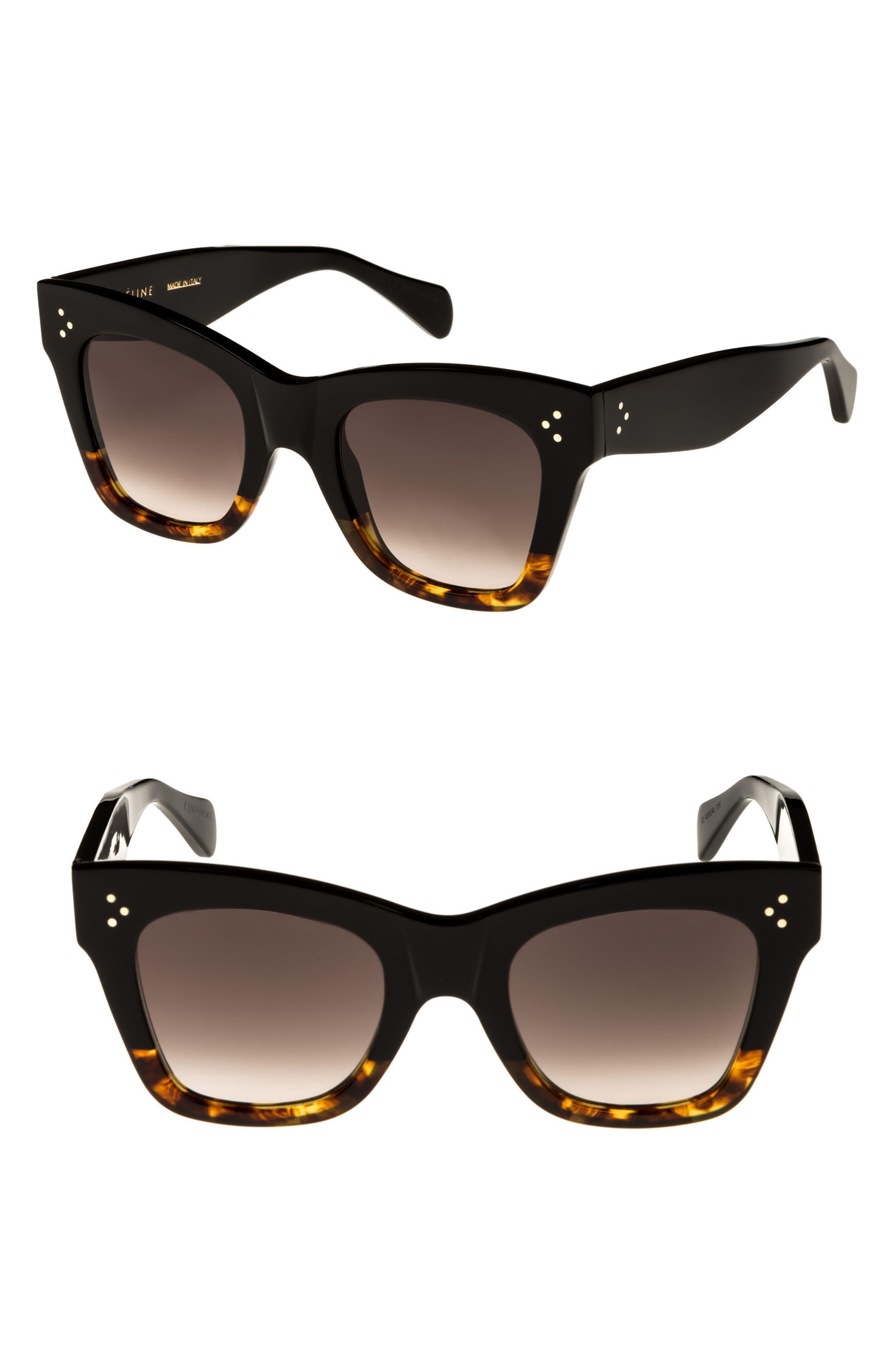 3552c3047b090 Céline 50mm Gradient Butterfly Sunglasses in Black - Lyst