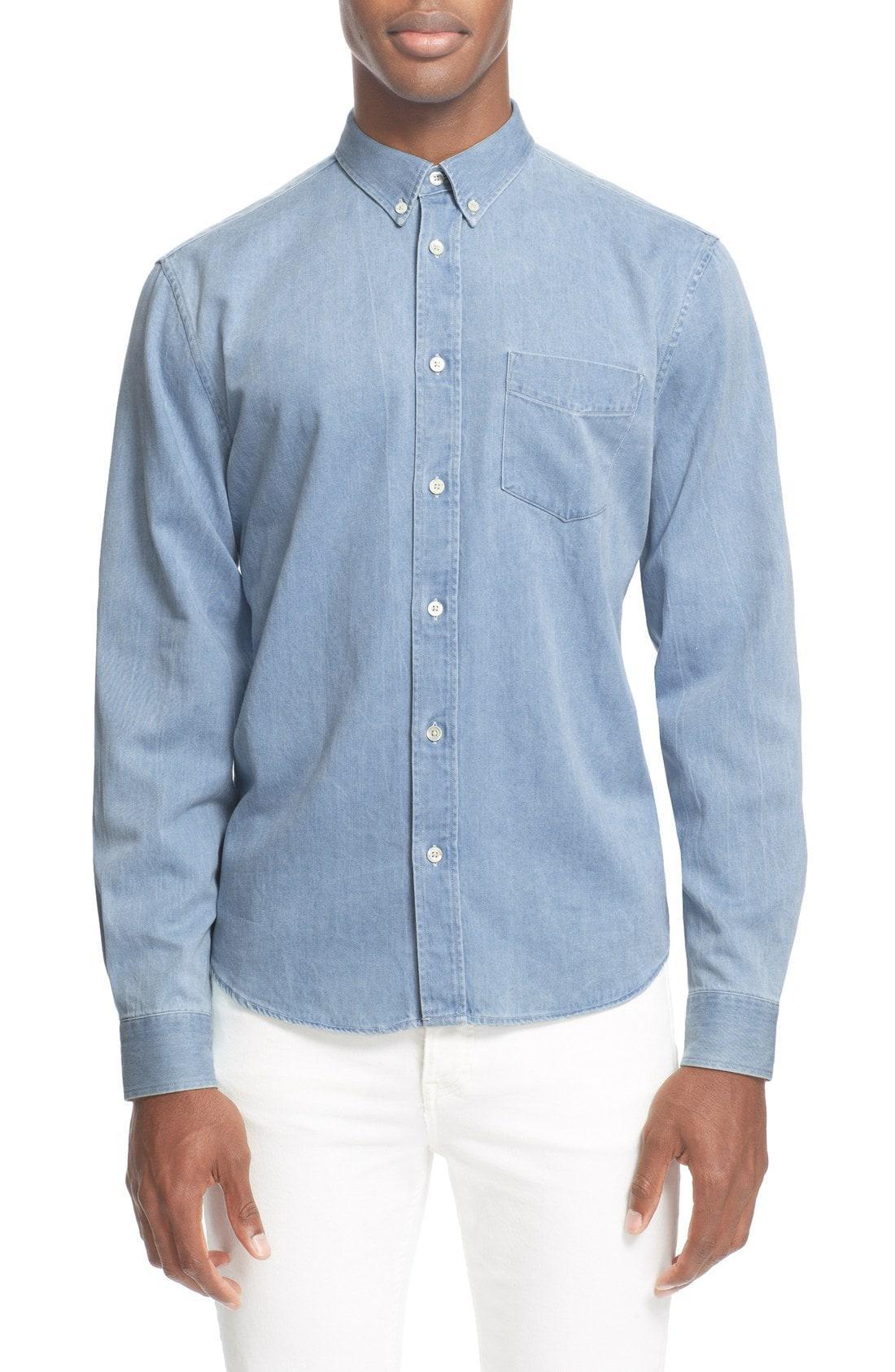 6d2d9016f0 Lyst - Acne  isherwood  Denim Shirt in Blue for Men