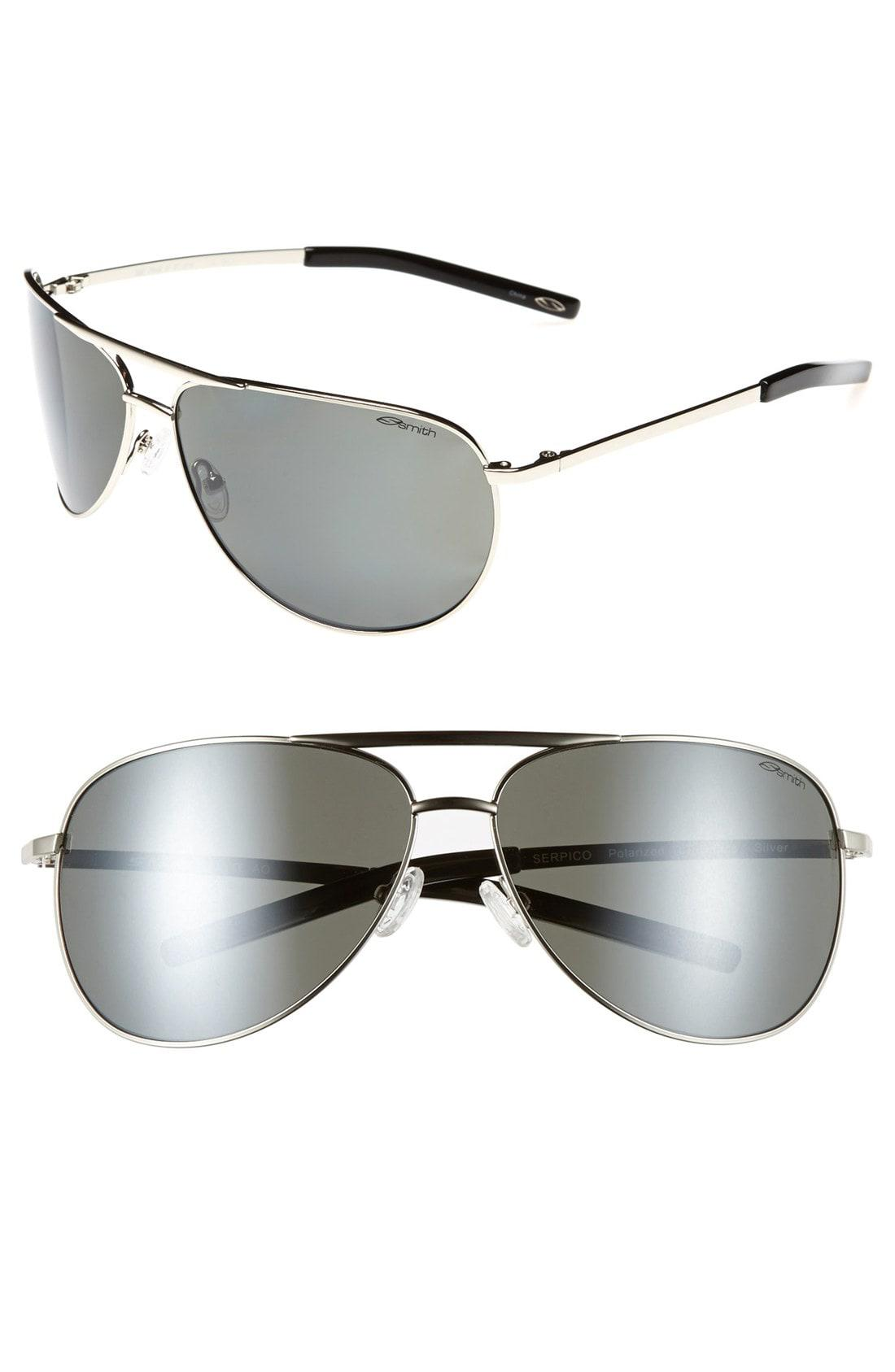 13292f649a Smith - Metallic Serpico 65mm Polarized Aviator Sunglasses - Lyst. View  fullscreen