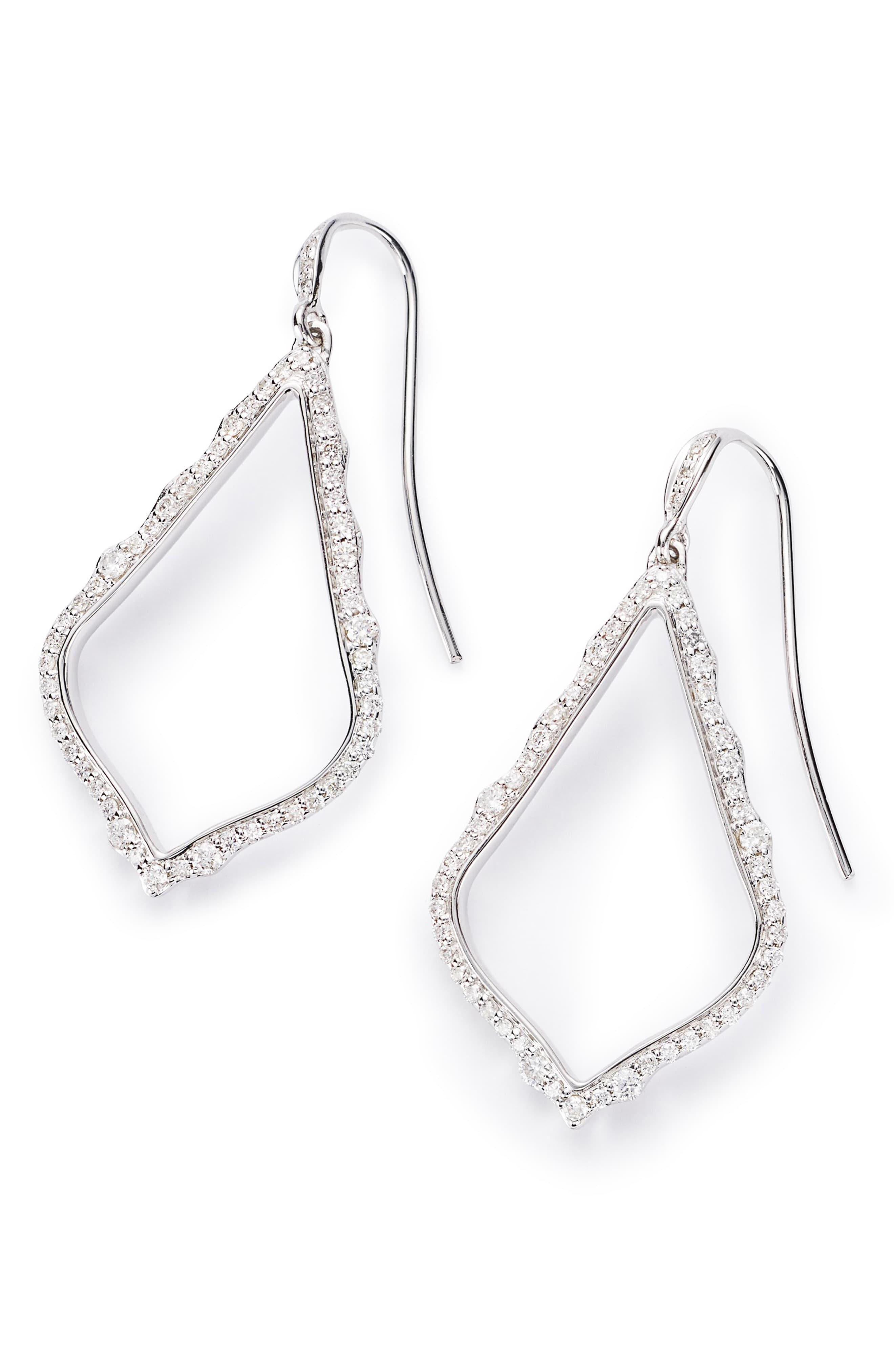 d02f4a288 Lyst - Kendra Scott Sophia 14ct White-gold And Diamond Earrings in ...