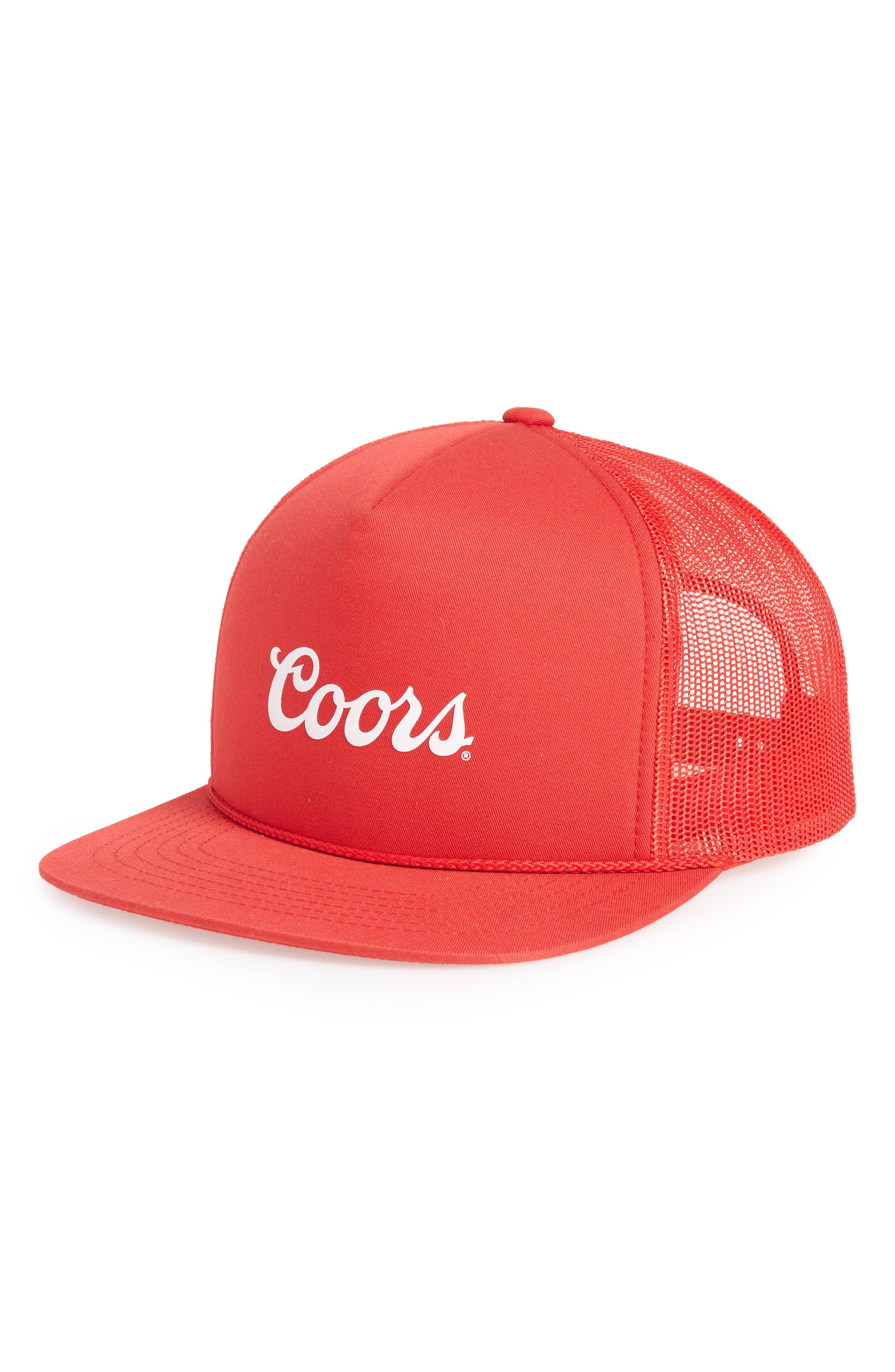 e03a9938 ... purchase brixton. mens red coors signature trucker hat 6f1d8 ee2cc