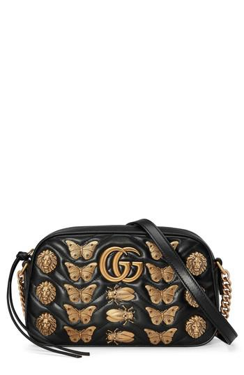 57440485d9fb Lyst - Gucci Gg Marmont 2.0 Animal Studs Matelasse Leather Shoulder ...