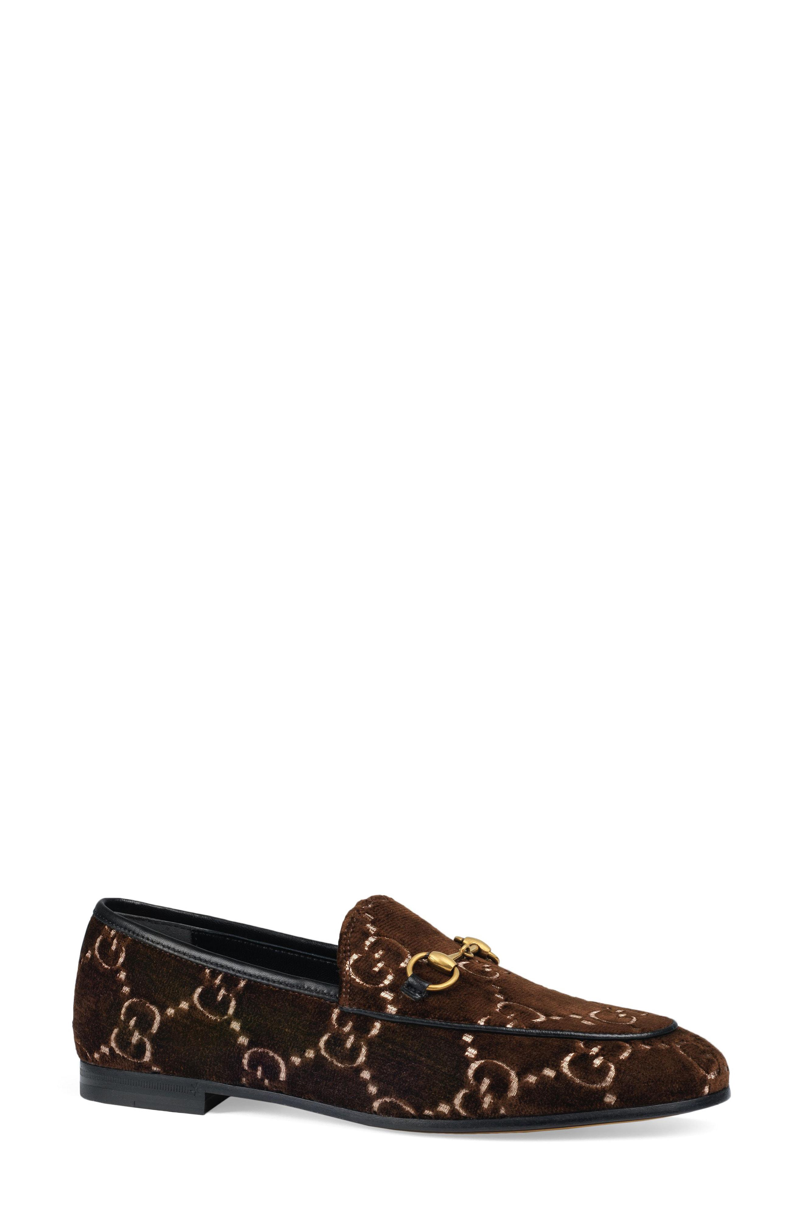 7c1710ad899 Lyst - Gucci Jordaan Loafer in Brown - Save 16%