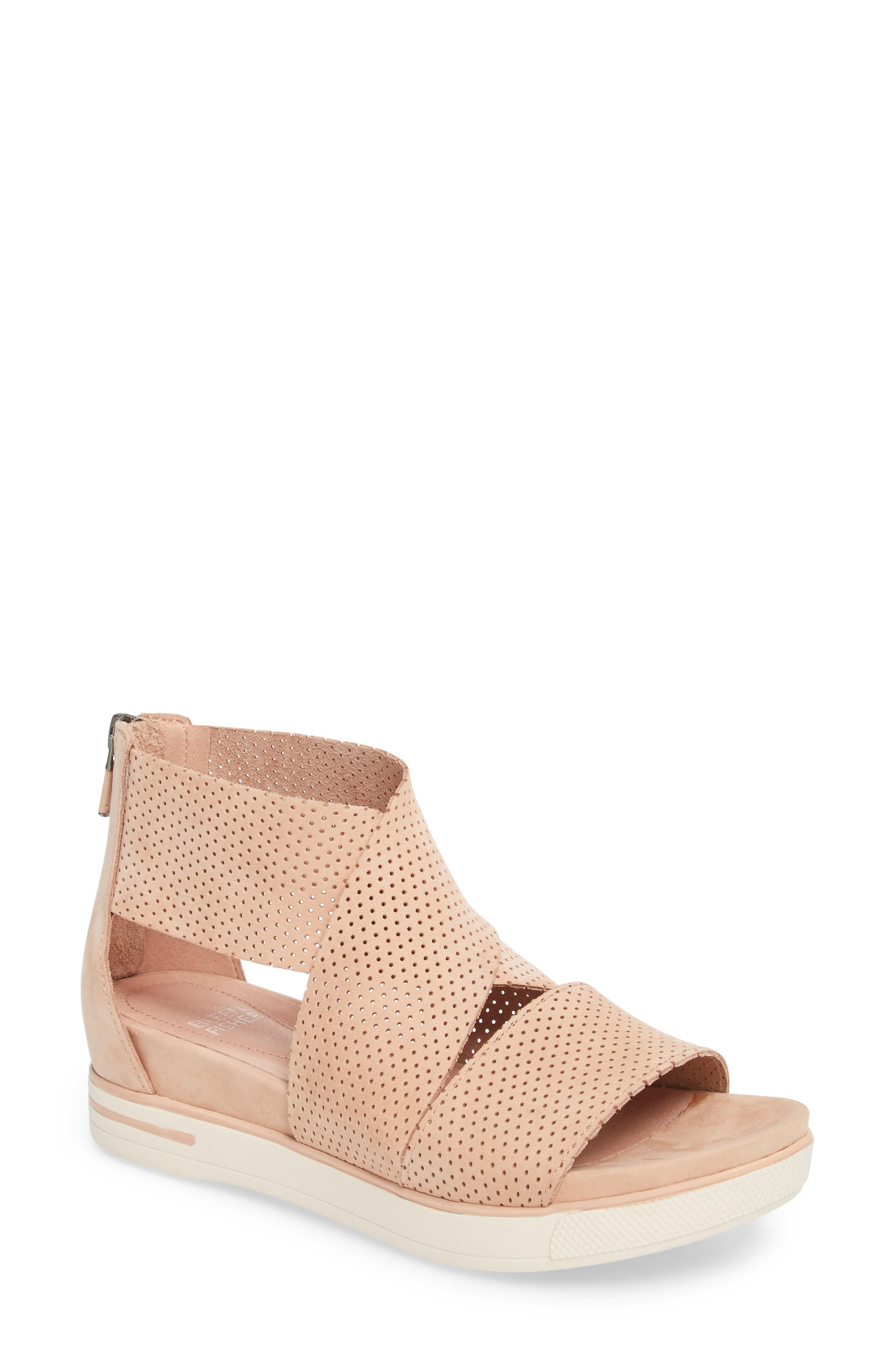 bb55b9668e6 Lyst - Eileen Fisher Sport Platform Sandal in Red - Save 67%