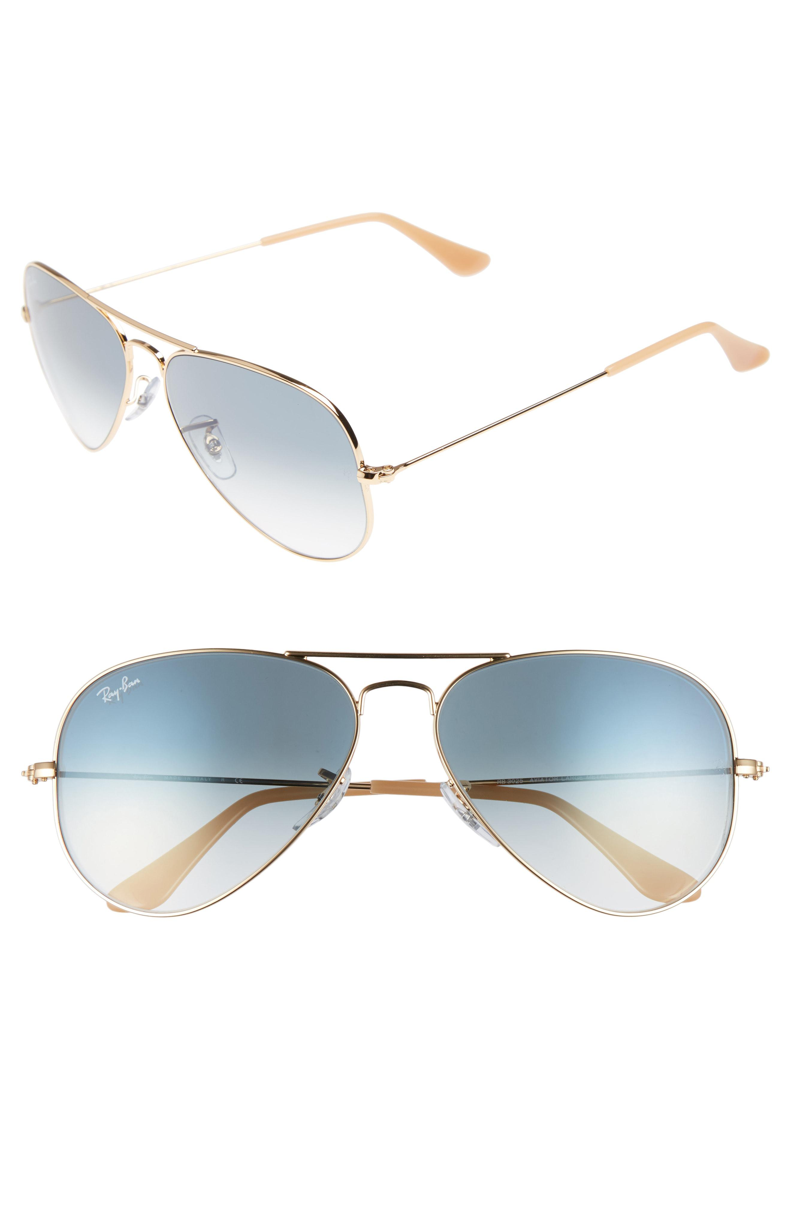 710d400201925 Lyst - Ray-Ban Original Aviator 58mm Sunglasses in Blue for Men