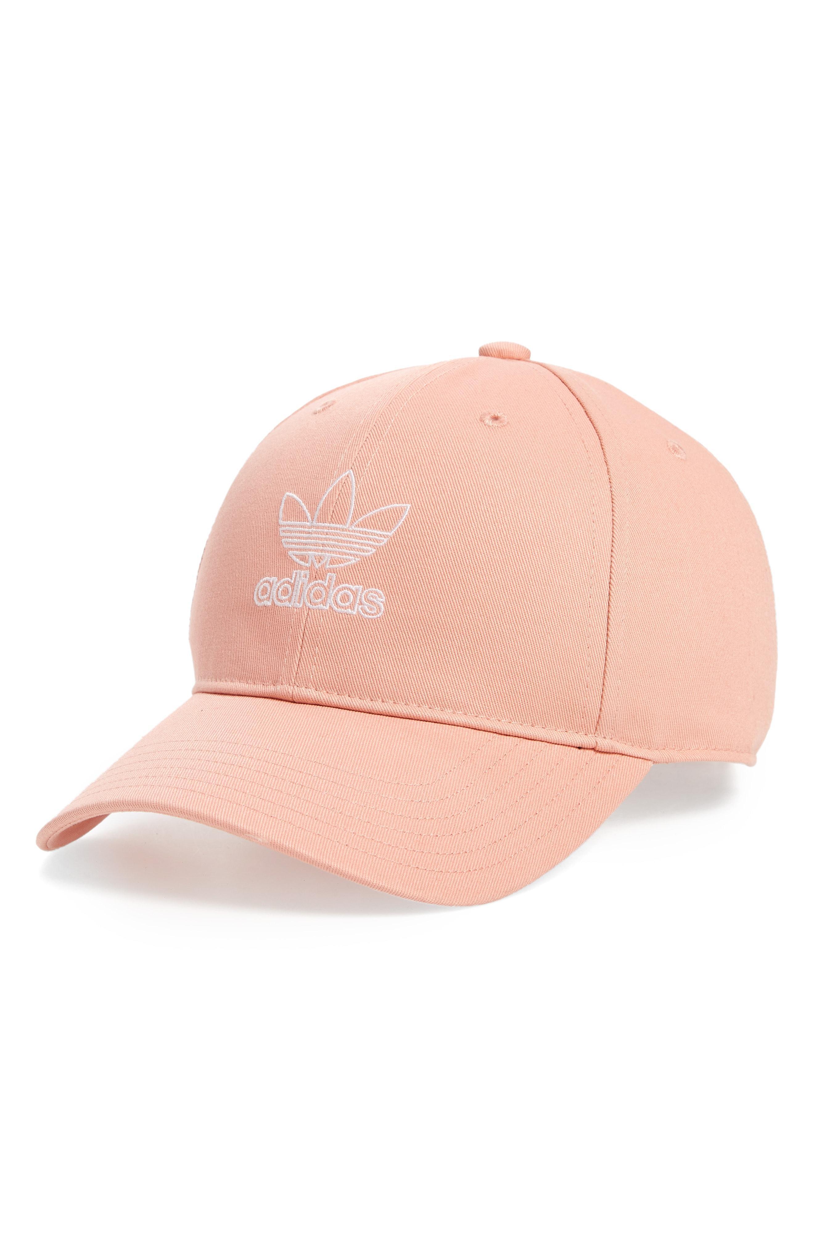the best attitude a9fa3 ea0b7 Adidas - Pink Originals Relaxed Outline Logo Baseball Cap - Lyst. View  fullscreen