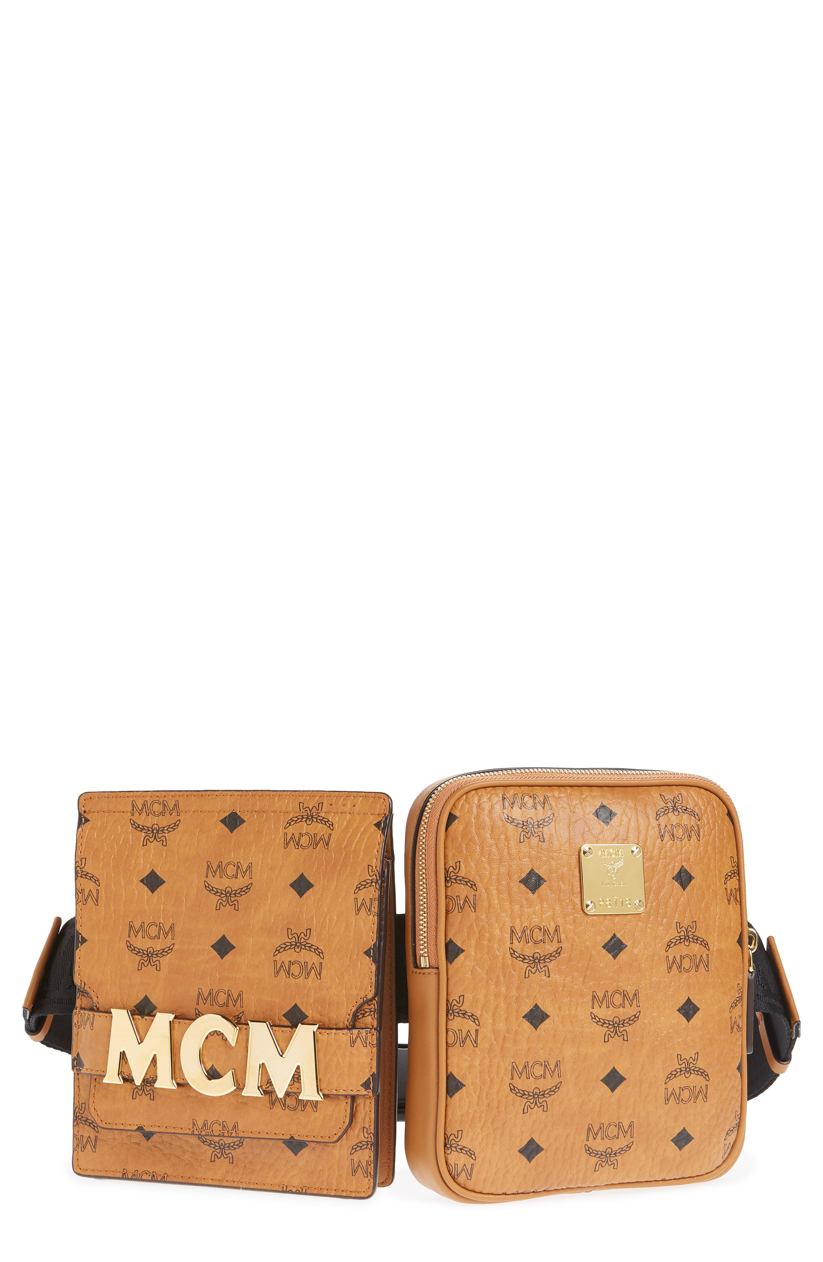 4cee26bf1e30 MCM - Multicolor Stark Canvas Double Belt Bag - - Lyst. View fullscreen