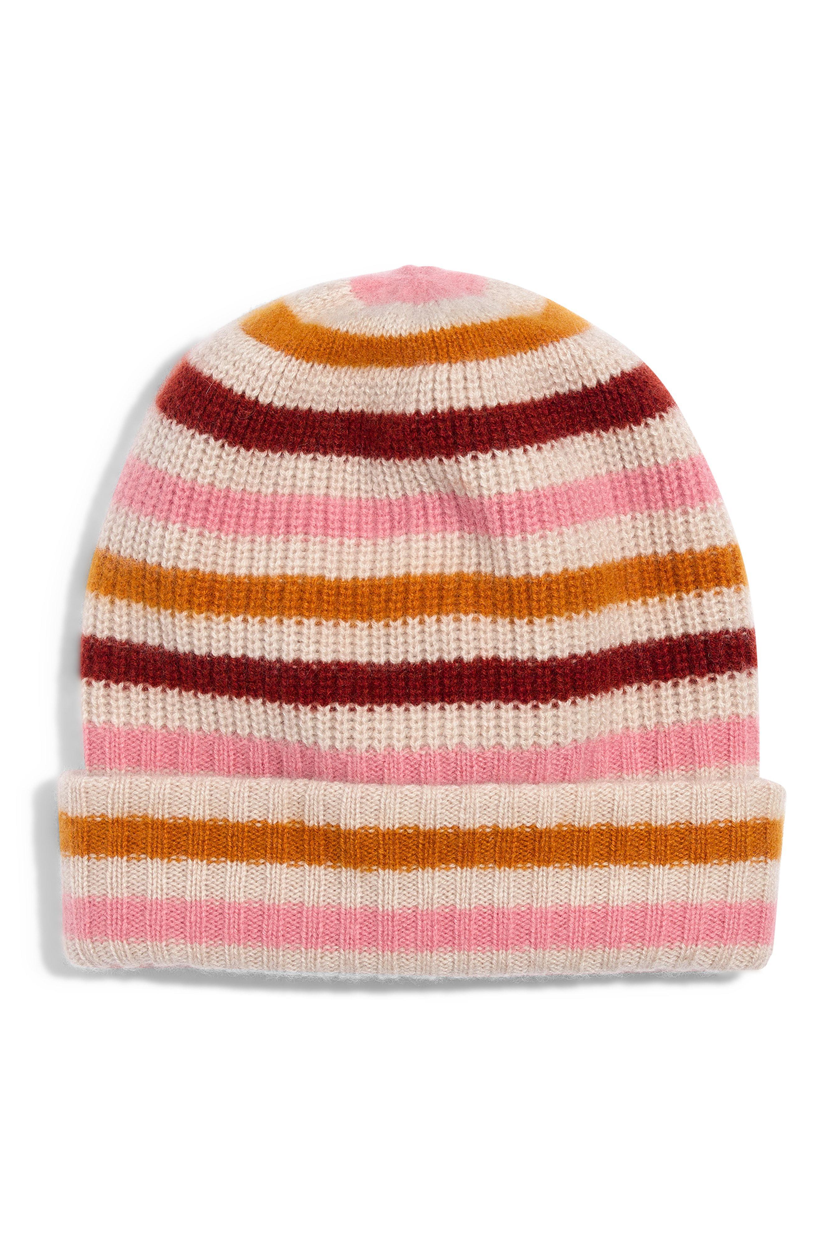 Lyst - Madewell Stripe Cashmere Beanie - 52e2578079a0