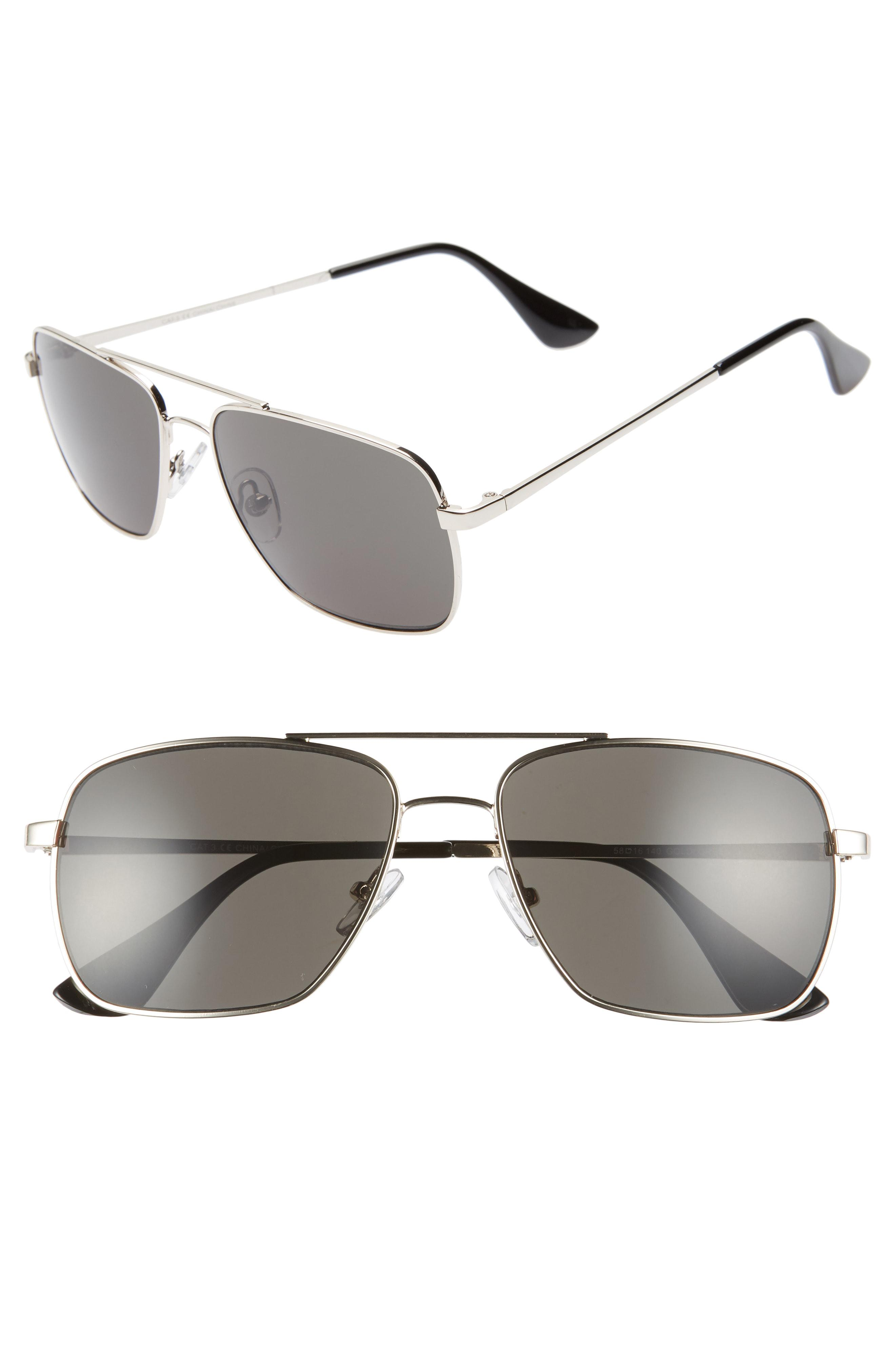 d917db163c Lyst - Nordstrom 1901 Taylor 58mm Aviator Sunglasses in Gray for Men