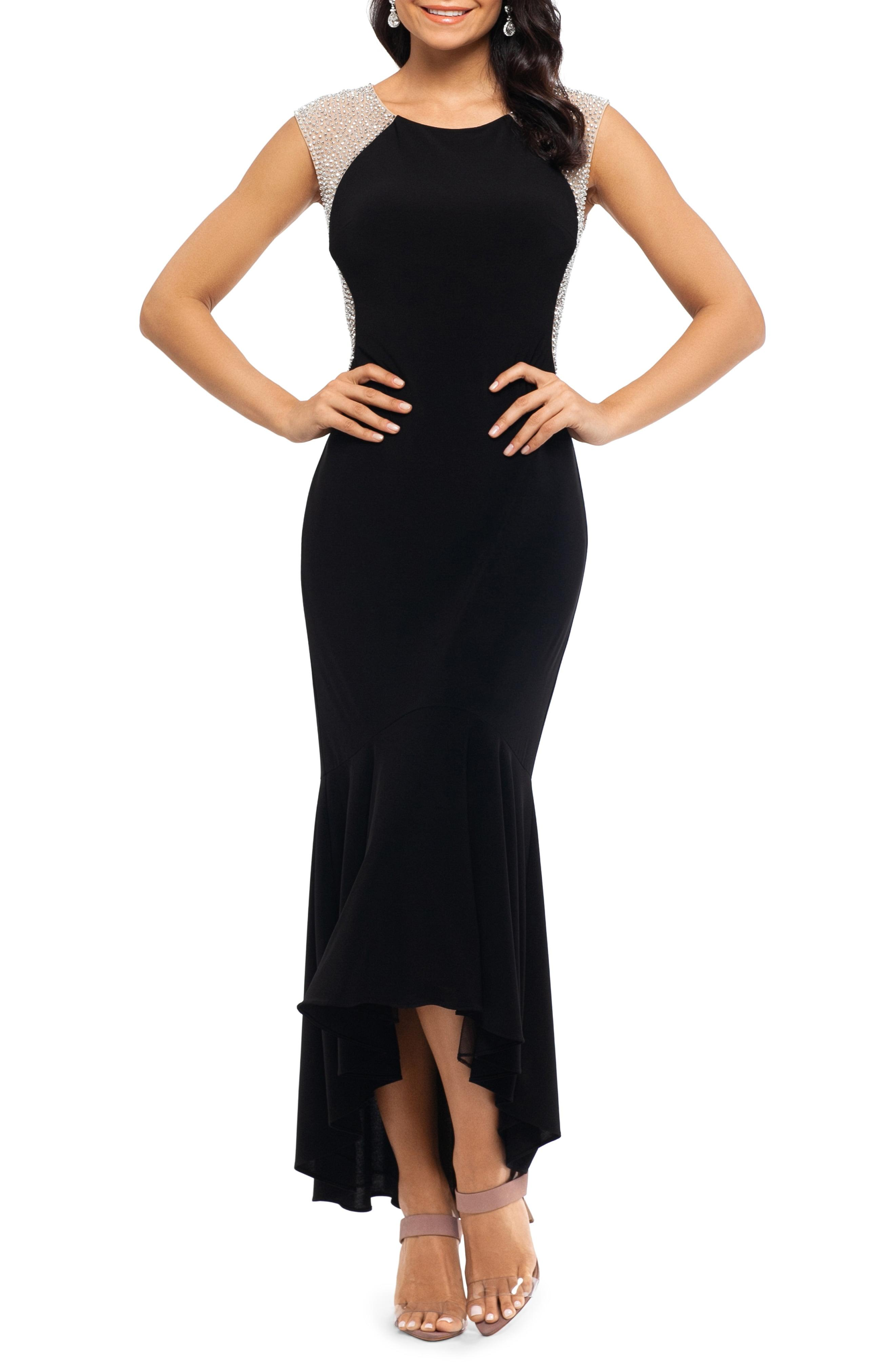 6df841c9 Lyst - Xscape Caviar Bead High/low Gown in Black