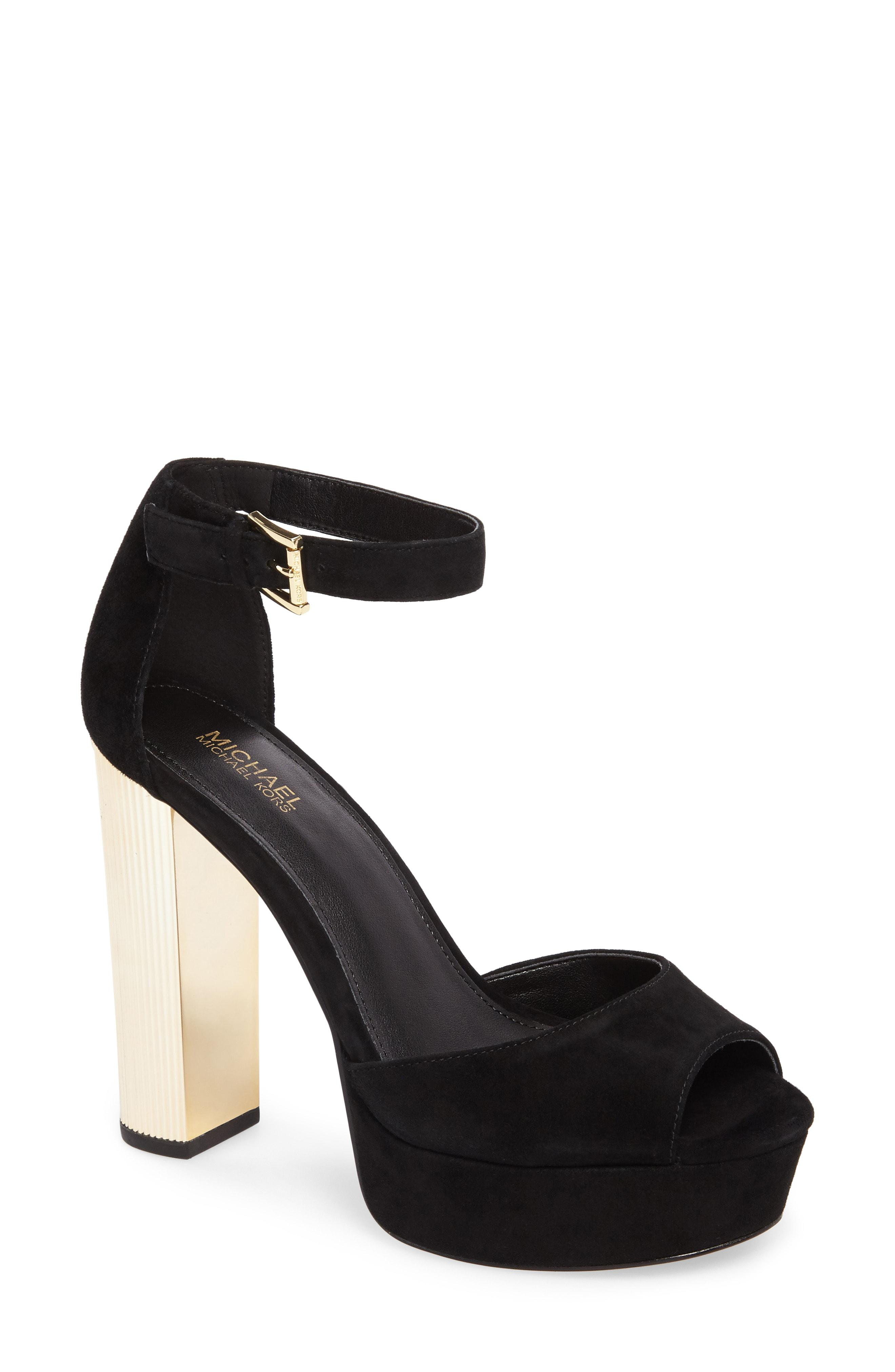 8546e4cc871a Lyst - MICHAEL Michael Kors Paloma Metallic Heel Platform Sandal in ...