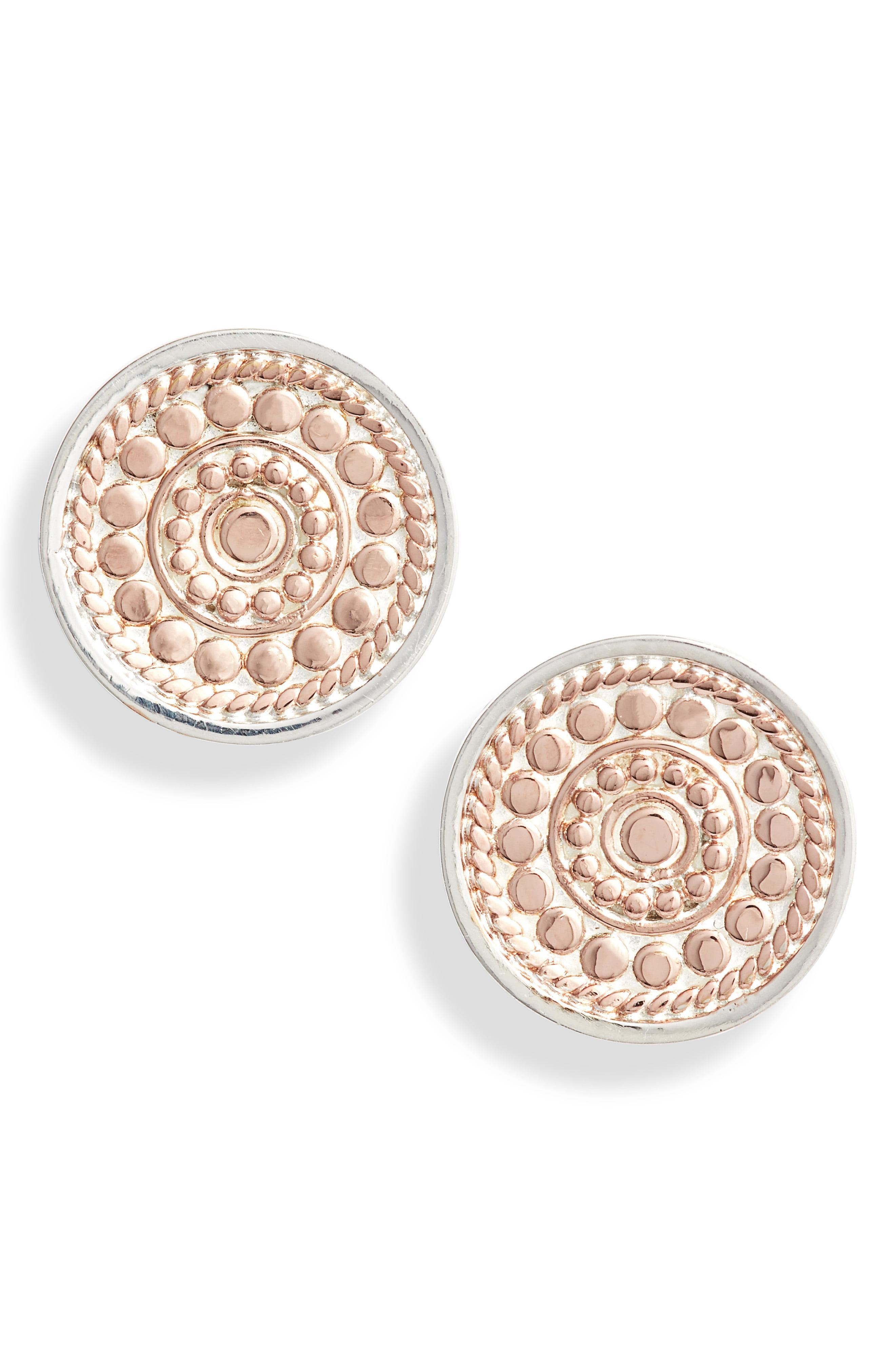 960b8b356 Lyst - Anna Beck Granulation Circle Stud Earrings in Metallic