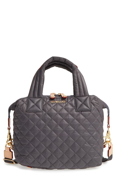 Mz Wallace Small Sutton Quilted Oxford Nylon Crossbody