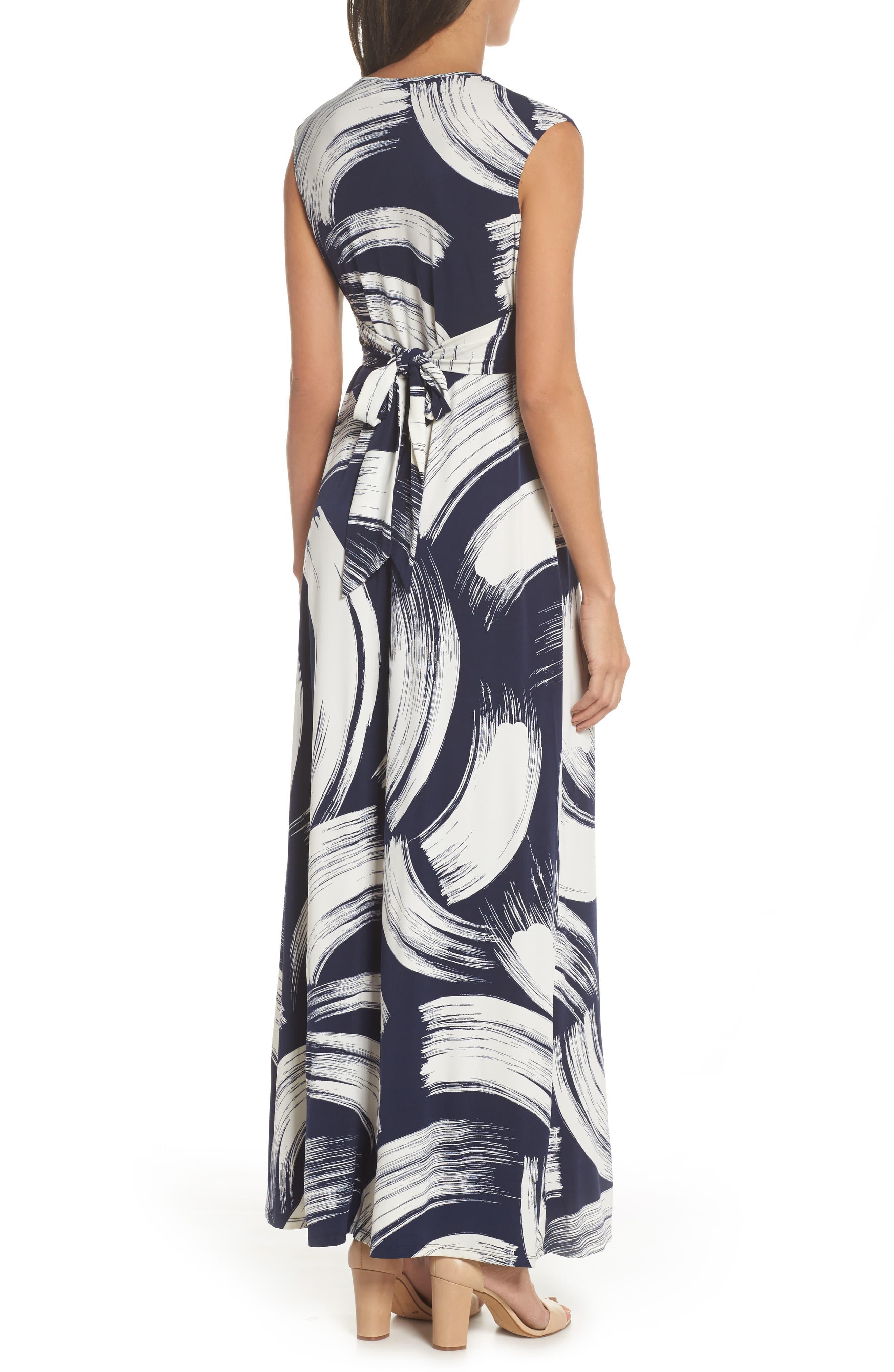 5ced9b7f321 Eliza J - Blue Front Knot Jersey Maxi Dress - Lyst. View fullscreen