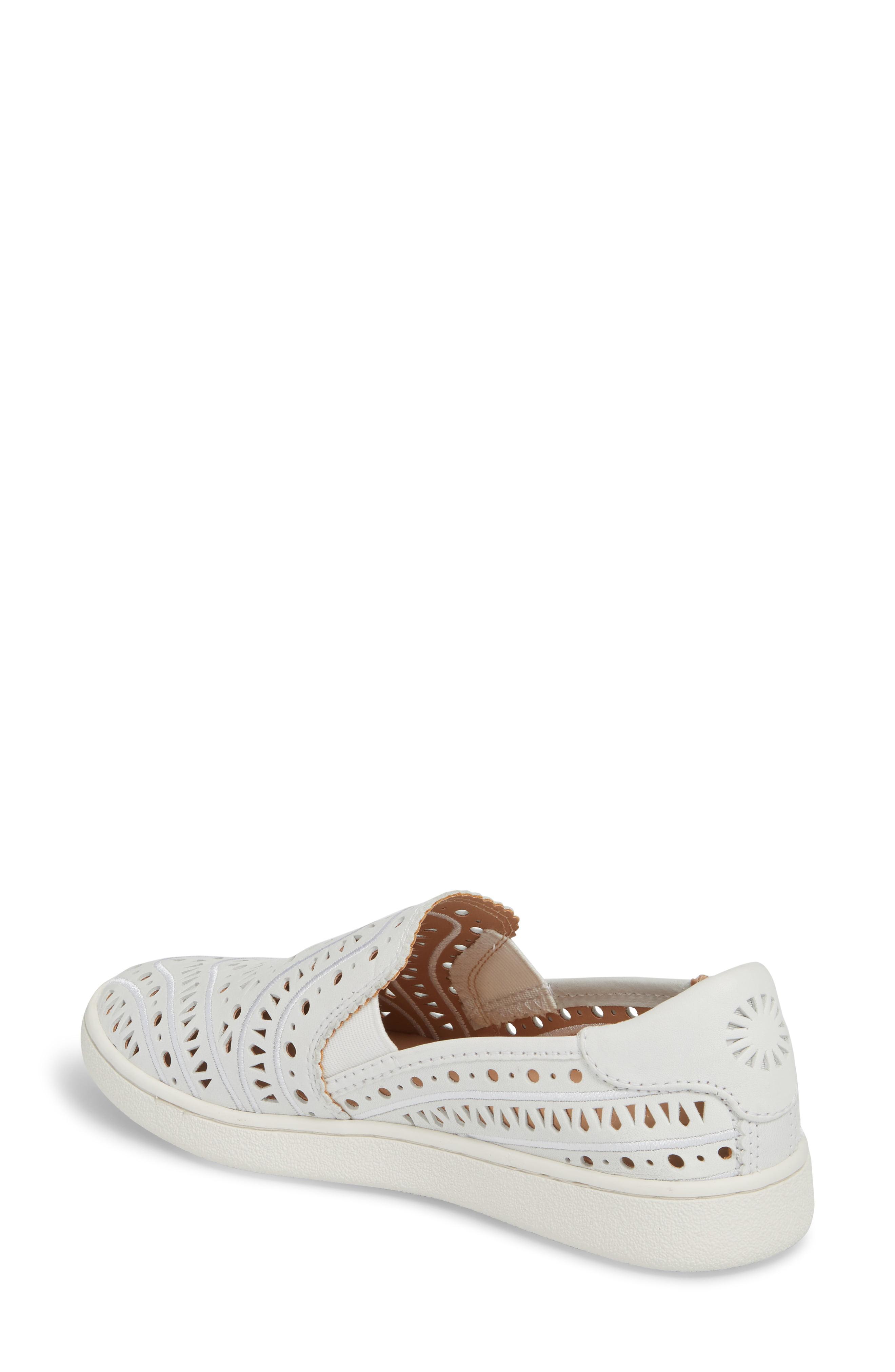 7bc883e93c4 Women's White Ugg Cas Perforated Slip-on Sneaker