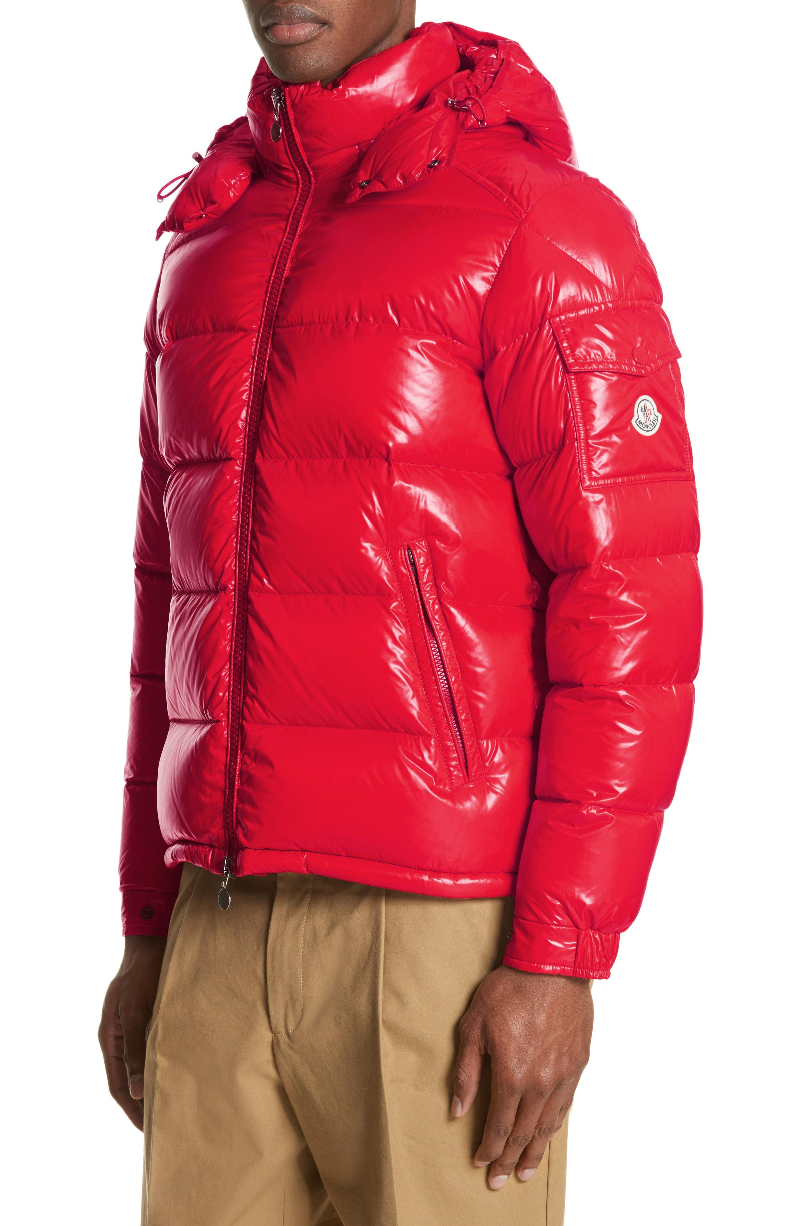 c6bdd52e3b8f Lyst - Moncler Maya Laque Quilted Down Jacket in Red for Men