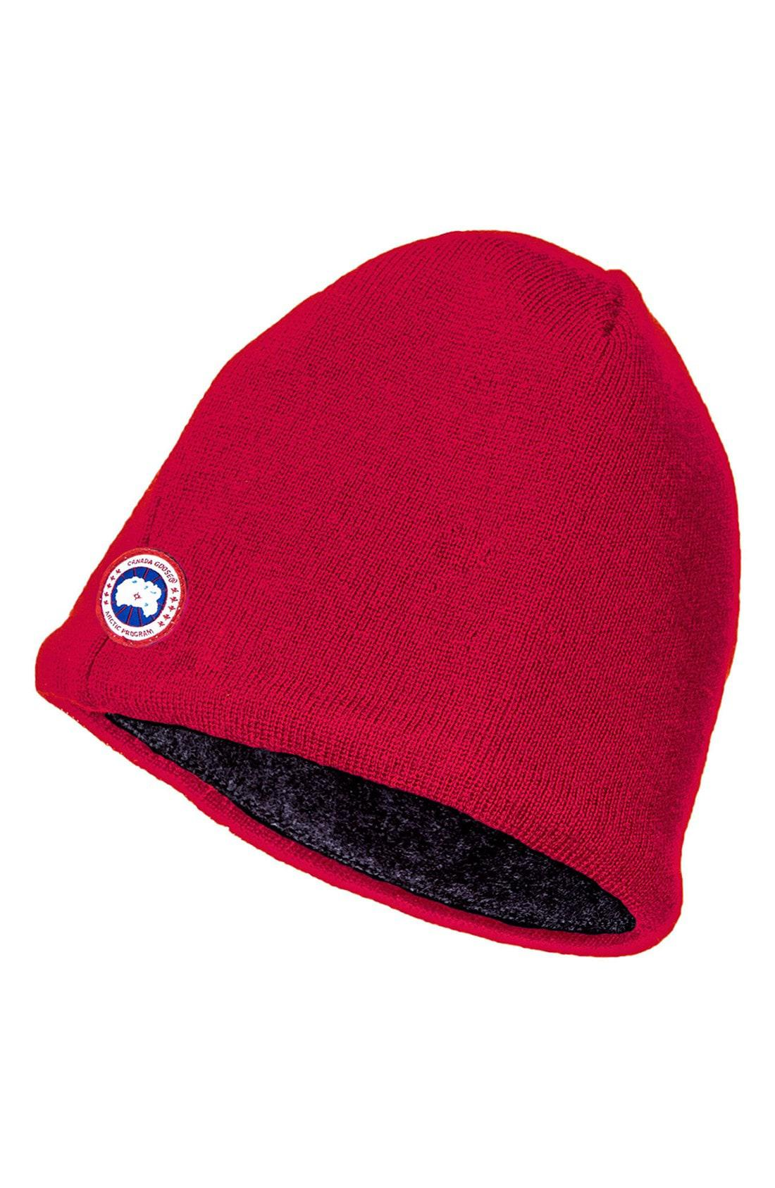 a5c4125c5 Lyst - Canada Goose Merino Wool Beanie in Red for Men