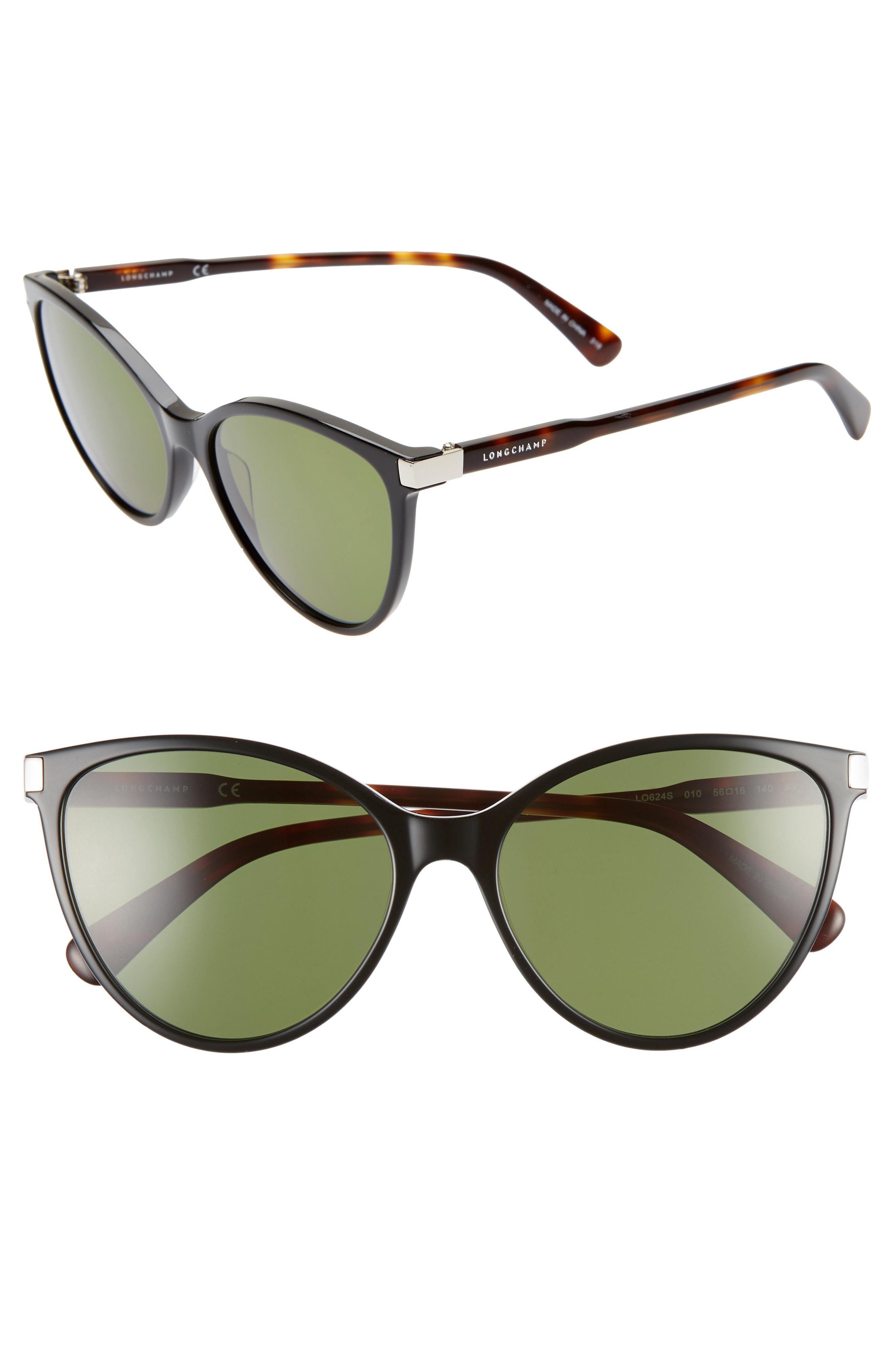afd8308ae8 Longchamp - Green Le Pliage 56mm Cat Eye Sunglasses - Lyst. View fullscreen