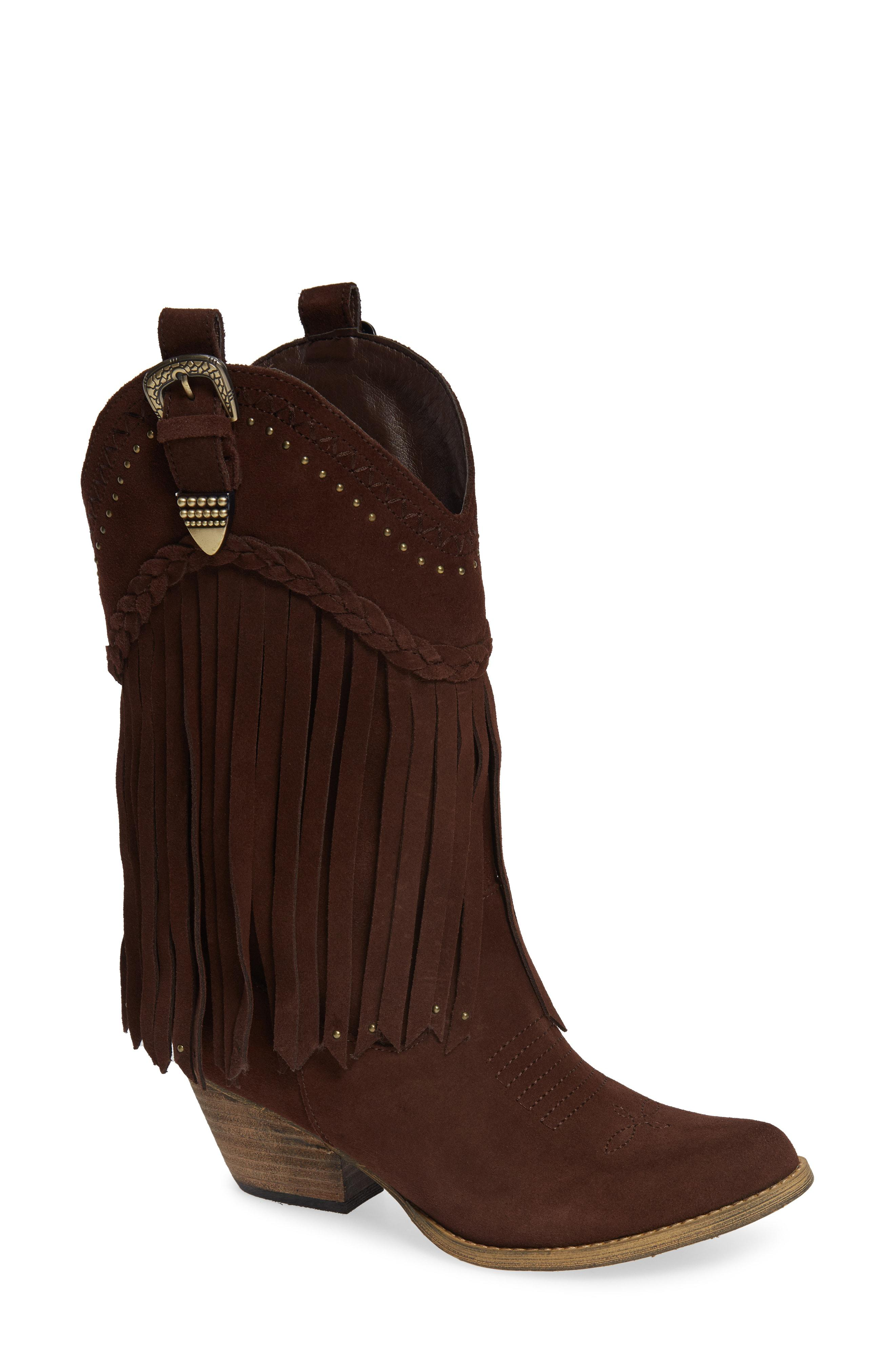 ef2f5dc0163 Lyst - Very Volatile Anderson Fringe Western Boot in Brown