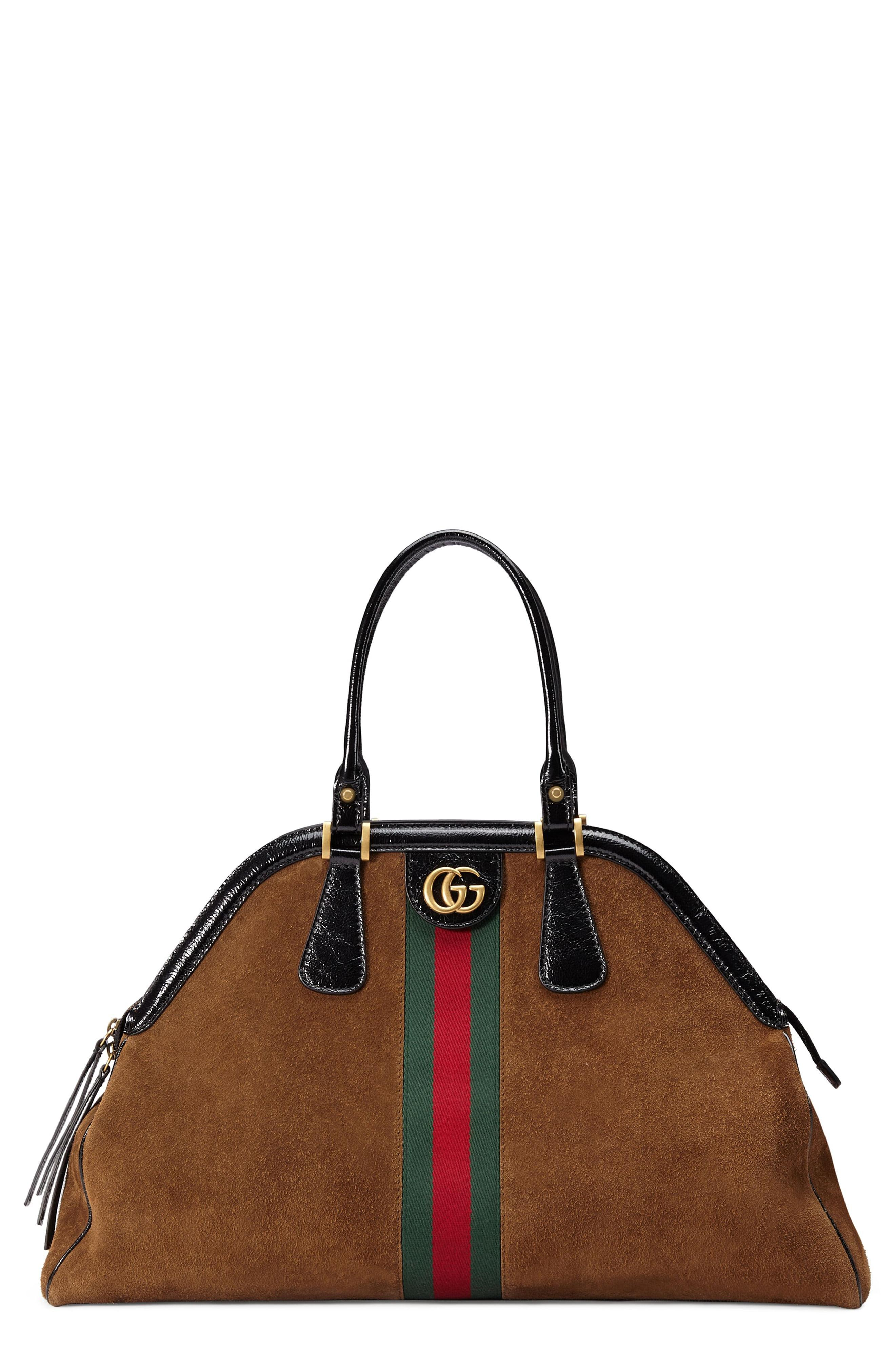832985318d6 Lyst - Gucci Women s Borsa Linea Medium Top Handle Leather Tote ...