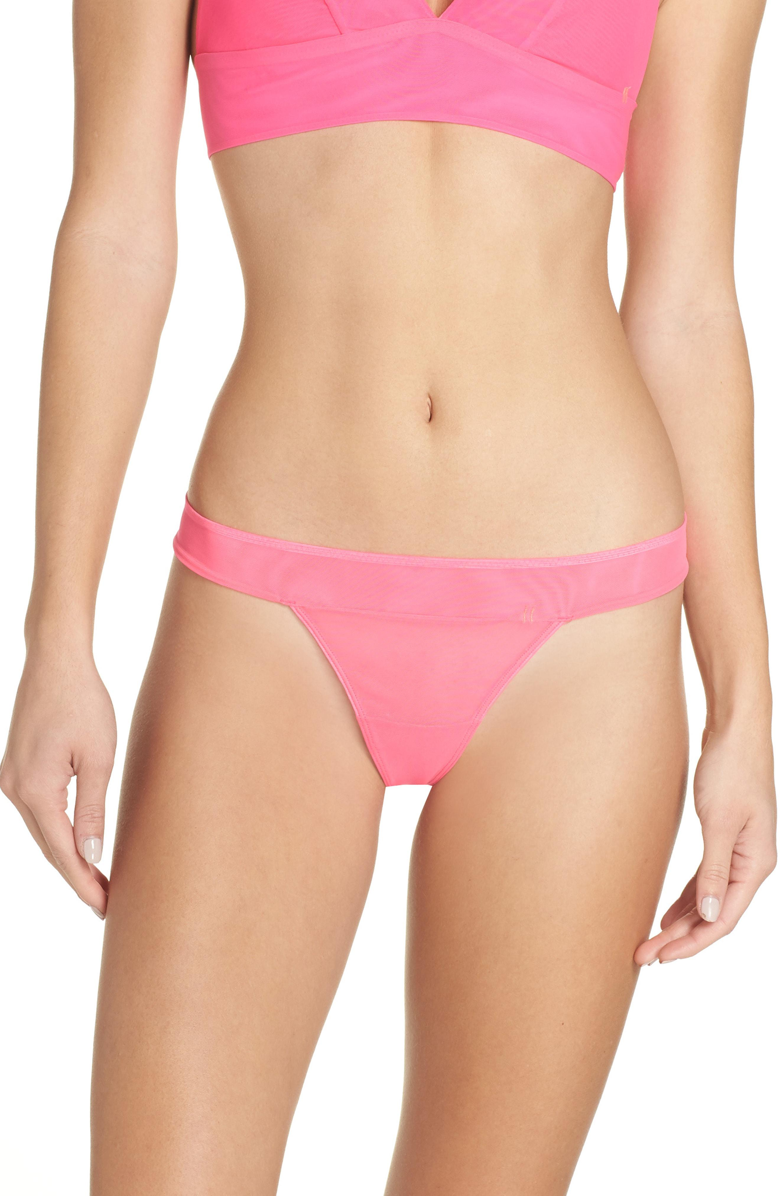 7c226746646d2 Lyst - Stance Mesh Thong in Pink - Save 44%