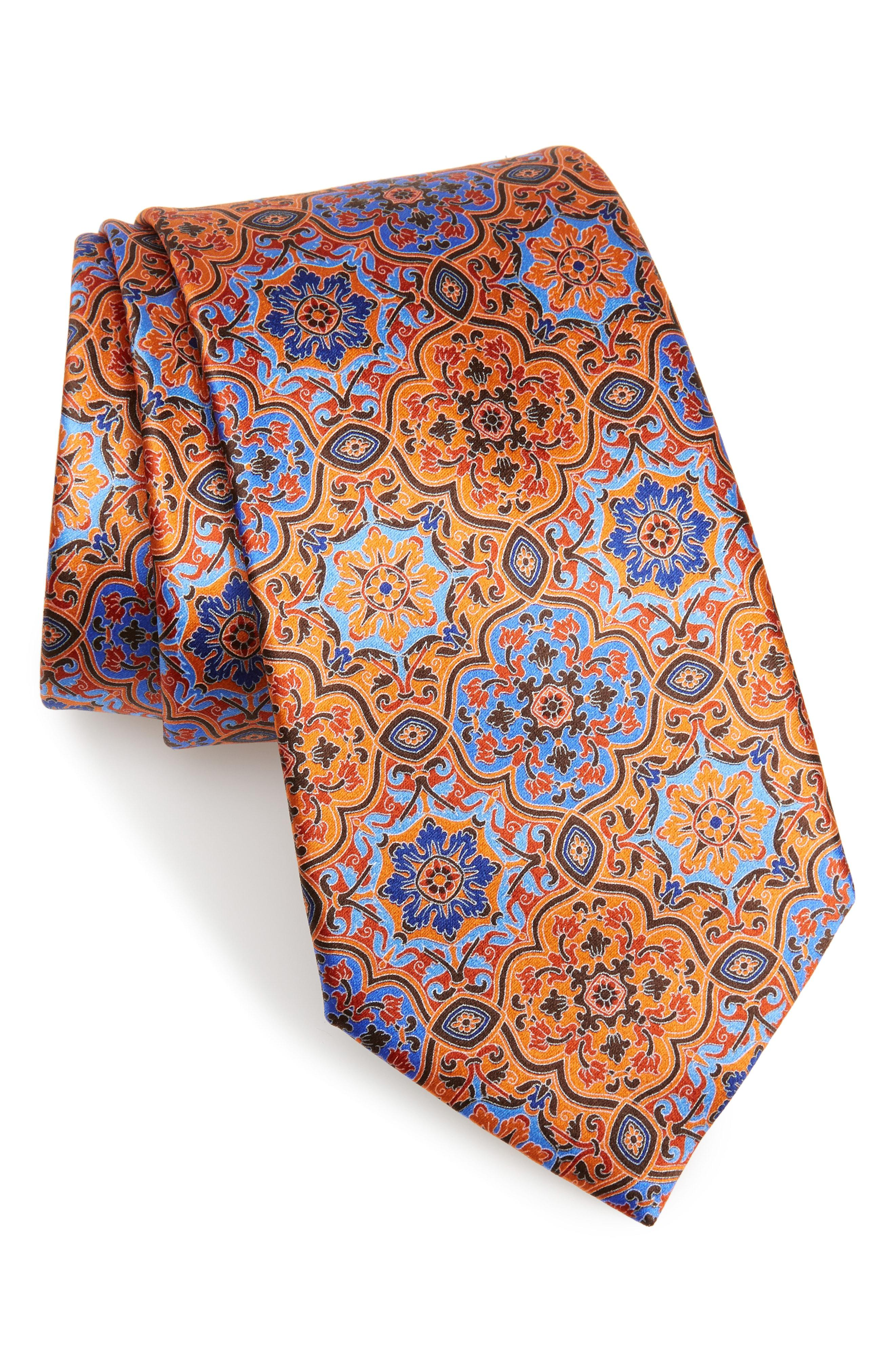 eb74ac83 Lyst - Ermenegildo Zegna Damask Silk Tie in Blue for Men