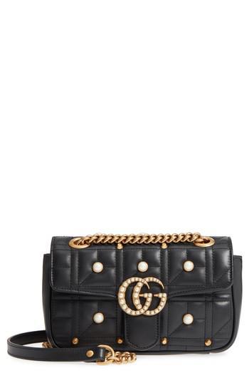 1f43ce4f1 Gucci Mini Gg Marmont 2.0 Imitation Pearl Logo Matelasse Leather ...