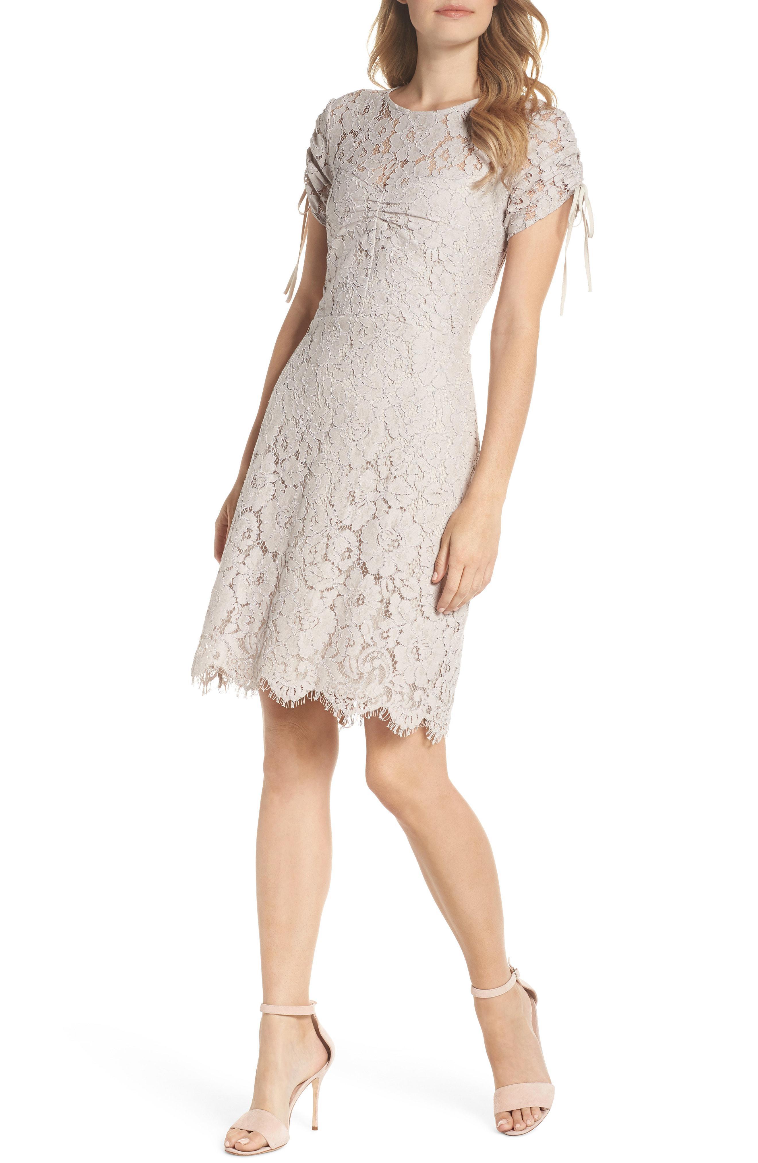 f87b65b5ce2a7 Sam Edelman. Women s Ruched Lace Sheath Dress