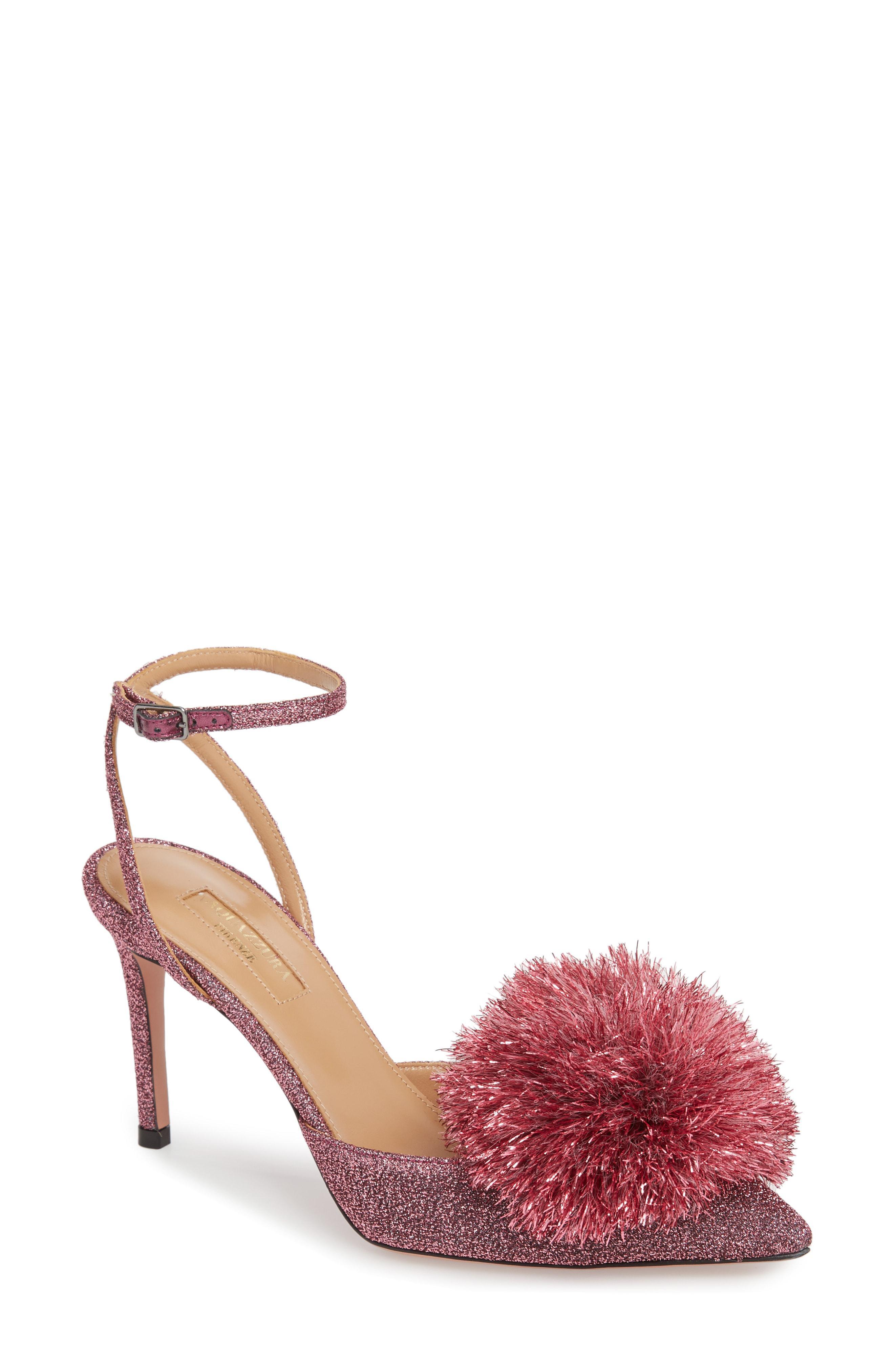 6eda30e4ae4 Lyst - Aquazzura Powder Puff Ankle Strap Pump (women) in Pink