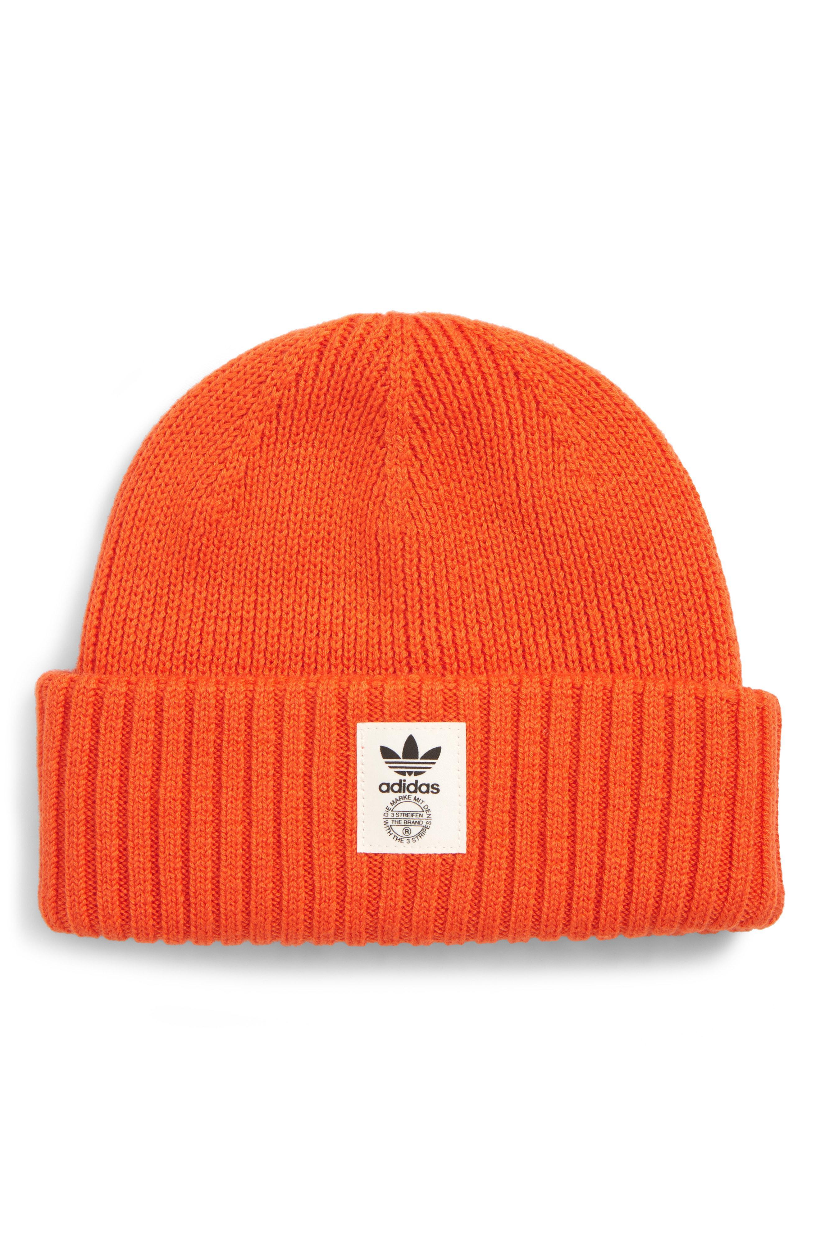 Lyst - adidas Originals Utility Beanie in Orange for Men ad09f516b1ec