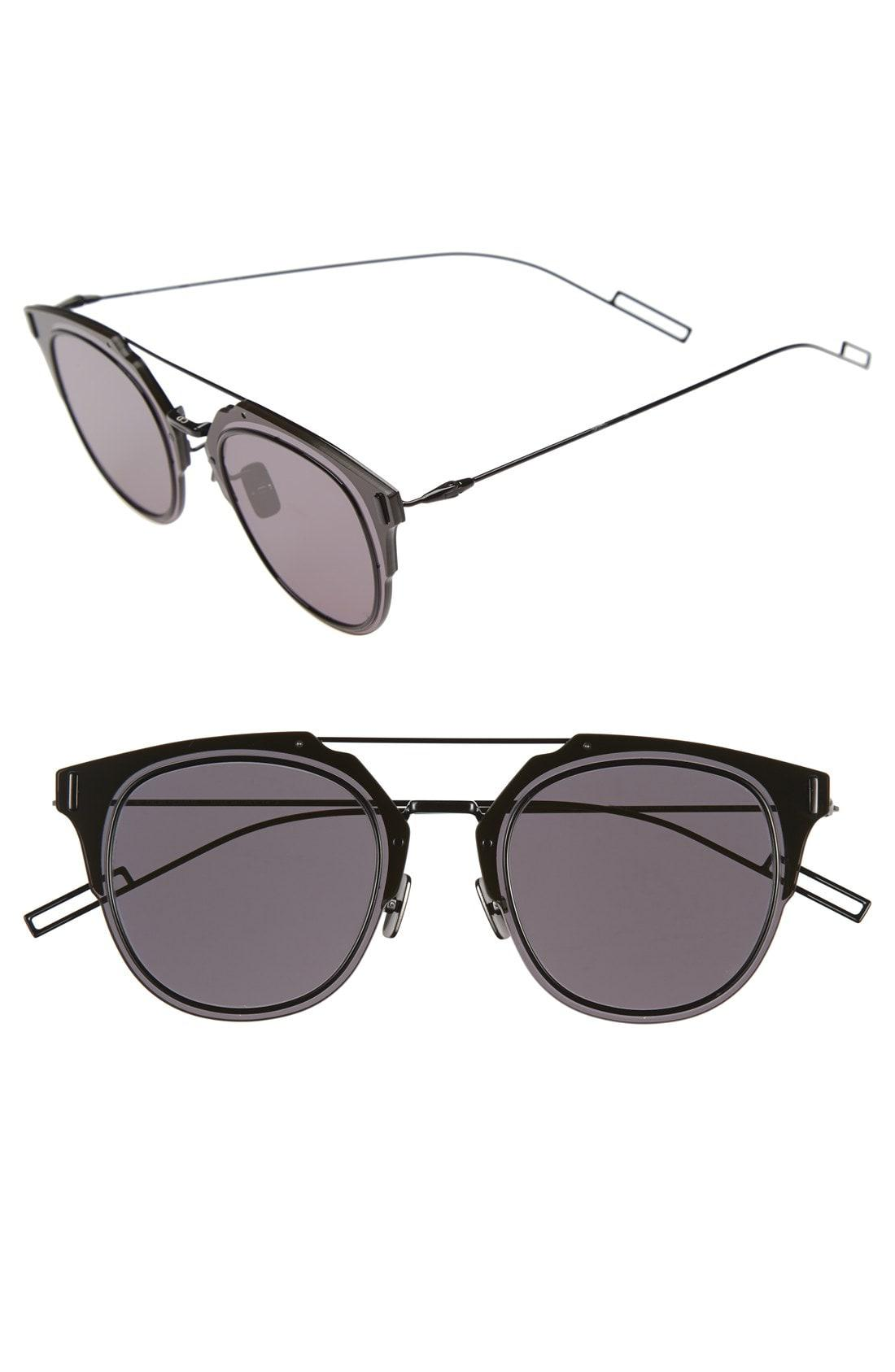5604e5ab4f Lyst - Dior  composit 1.0s  62mm Metal Shield Sunglasses - Dark Grey ...