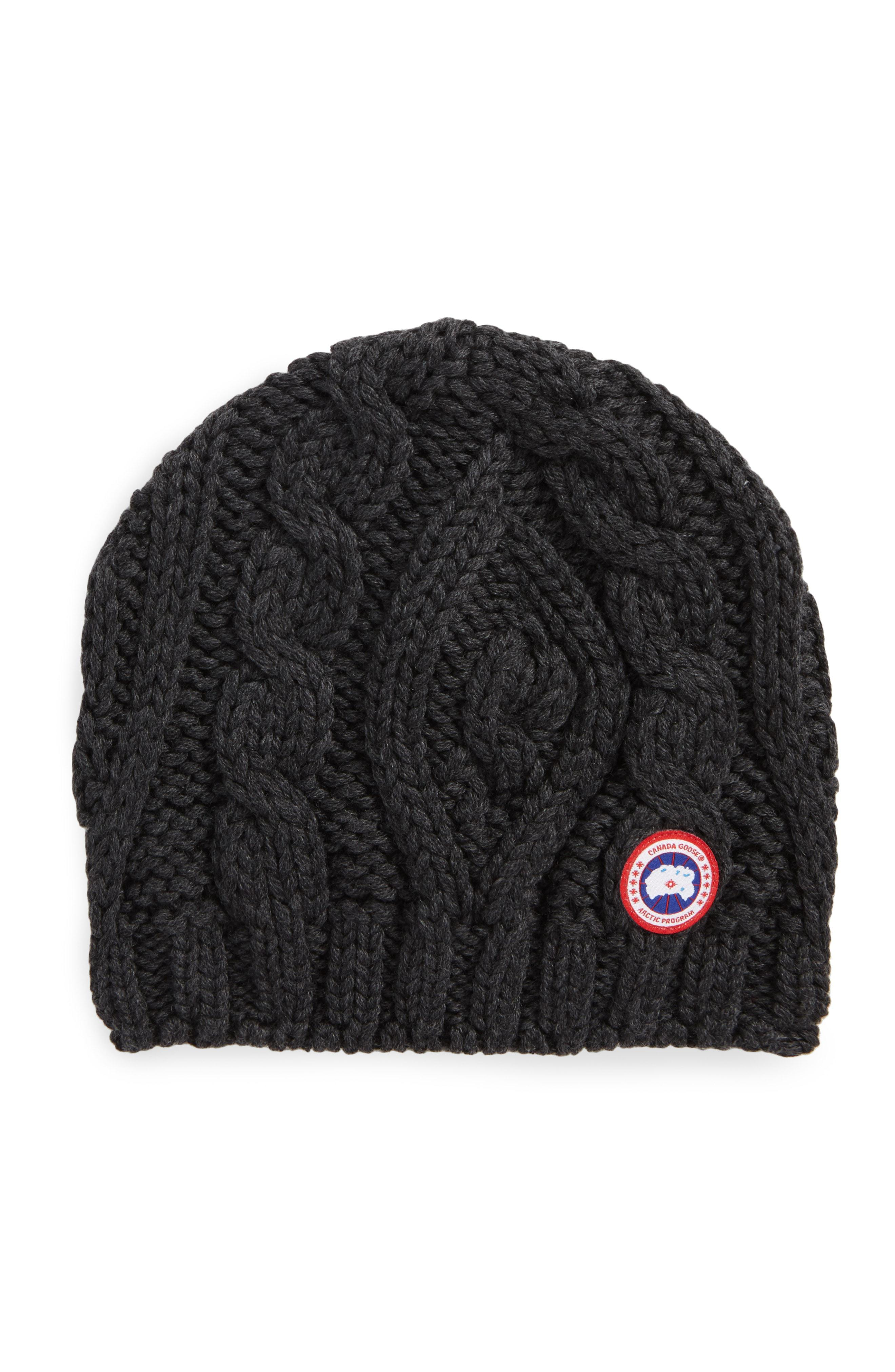 995d98fed Lyst - Canada Goose Cable Knit Merino Wool Beanie