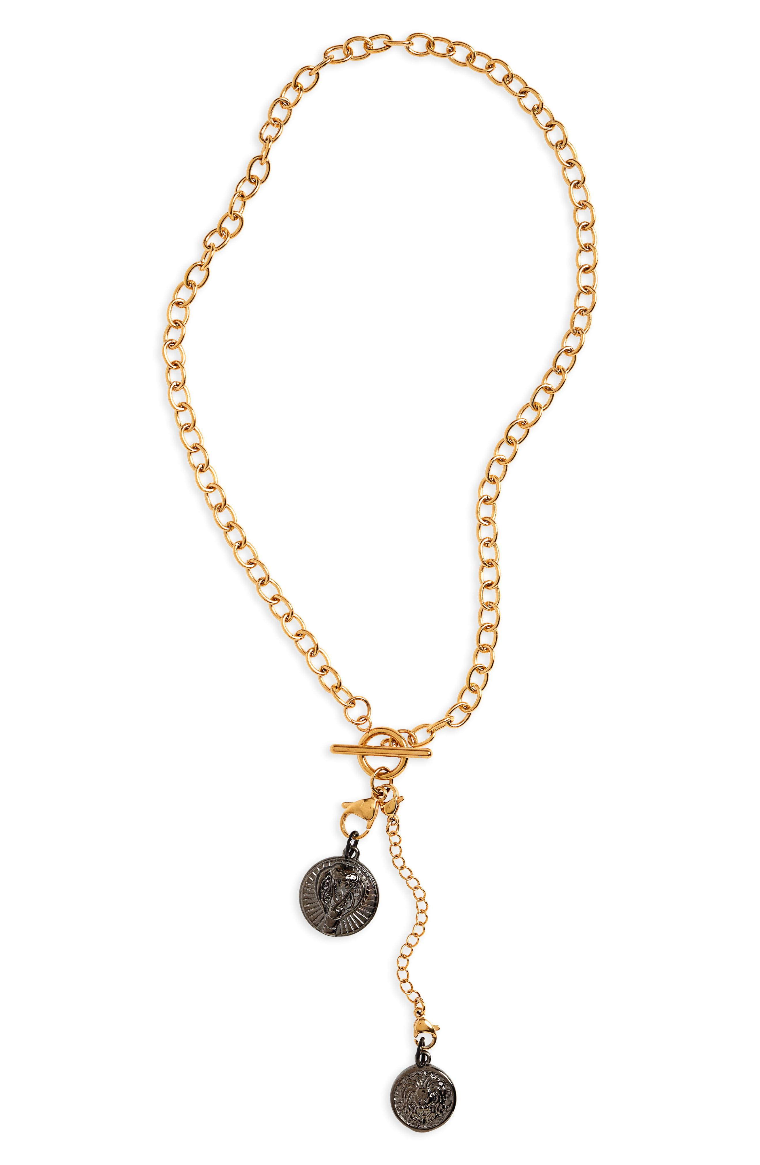 bc76cde10 Lyst - Ellie Vail Maxine Double Pendant Y-necklace in Metallic