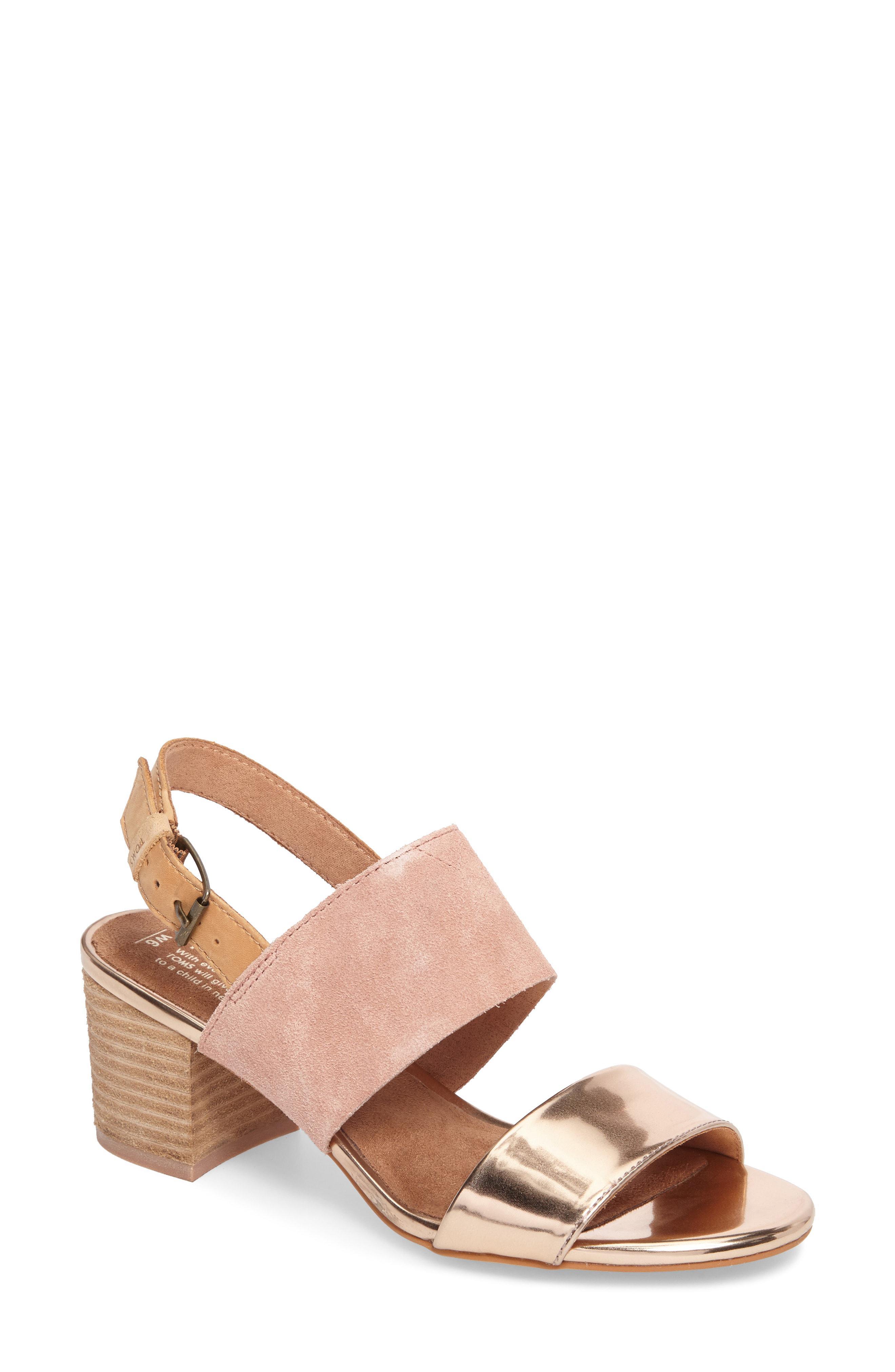 f4c79ecb8 Toms Poppy Sandal in Pink - Save 10.606060606060609% - Lyst