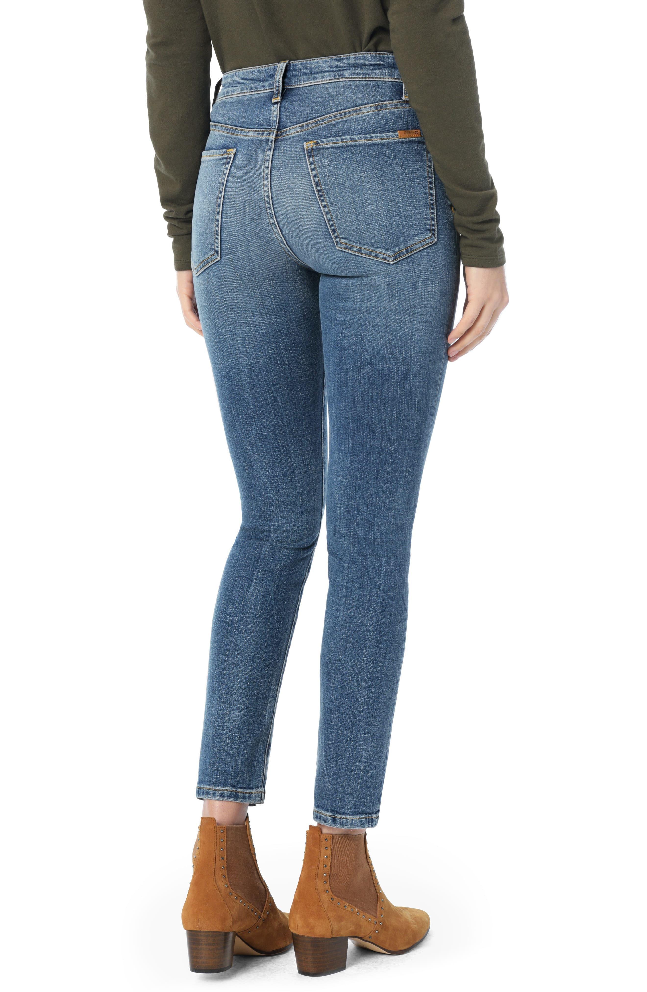 69f24eb32756c2 Joe's Charlie Pintuck High Waist Ankle Skinny Jeans in Blue - Lyst