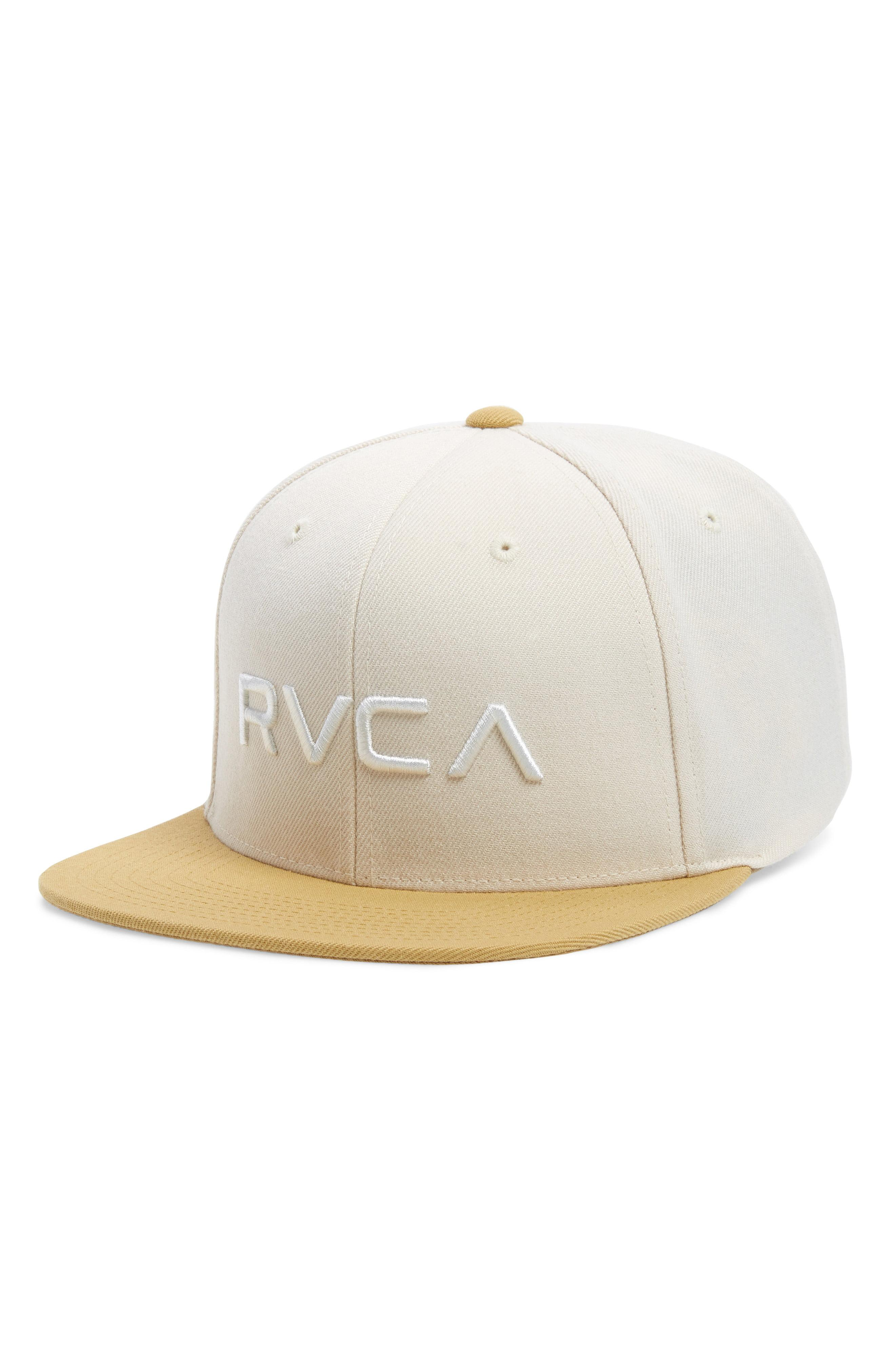 948dfe7b Lyst - RVCA Twill Snapback Baseball Cap in White for Men