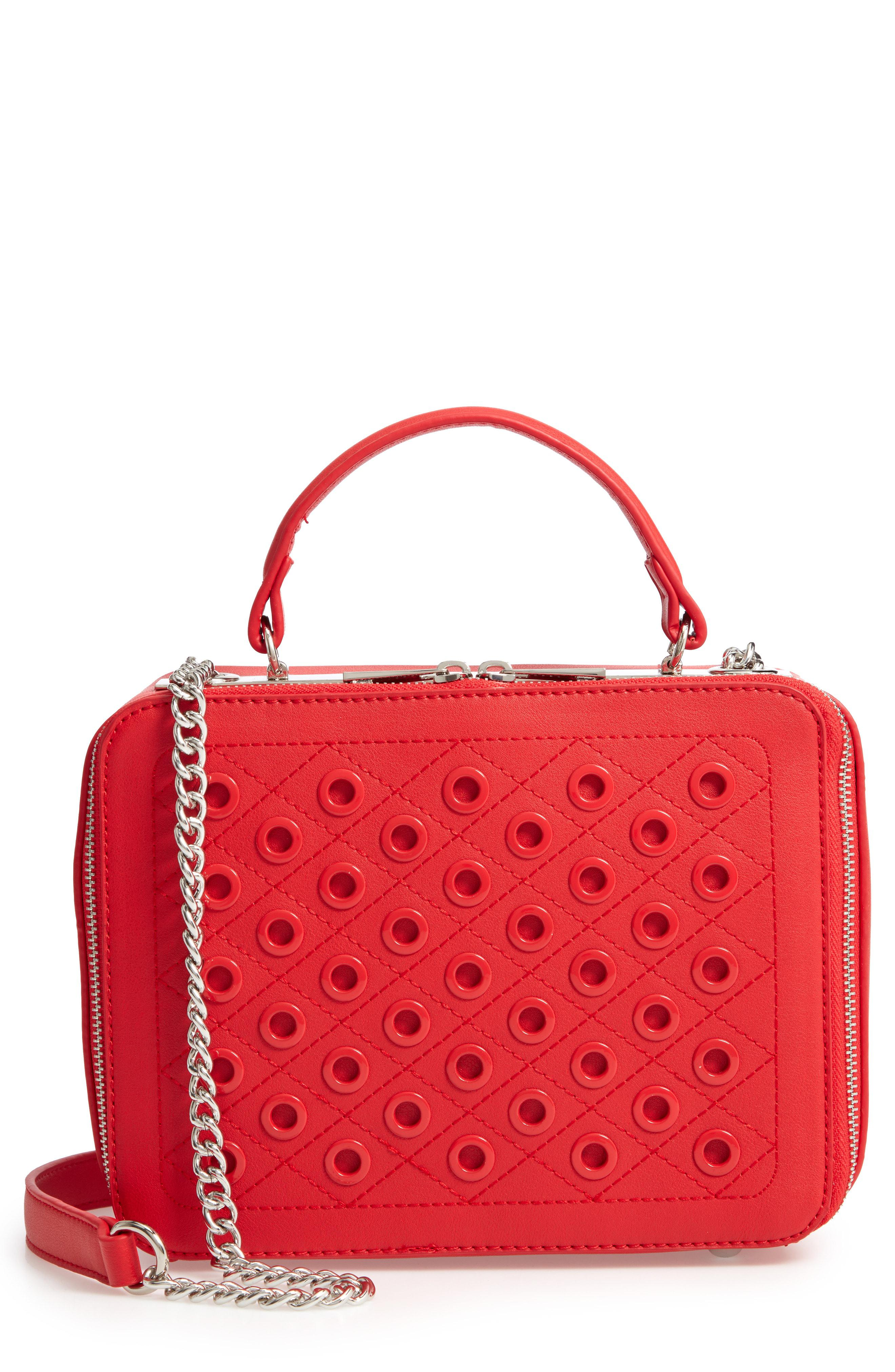 28f053ea74 BP. Grommet Detail Faux Leather Crossbody Bag in Red - Lyst