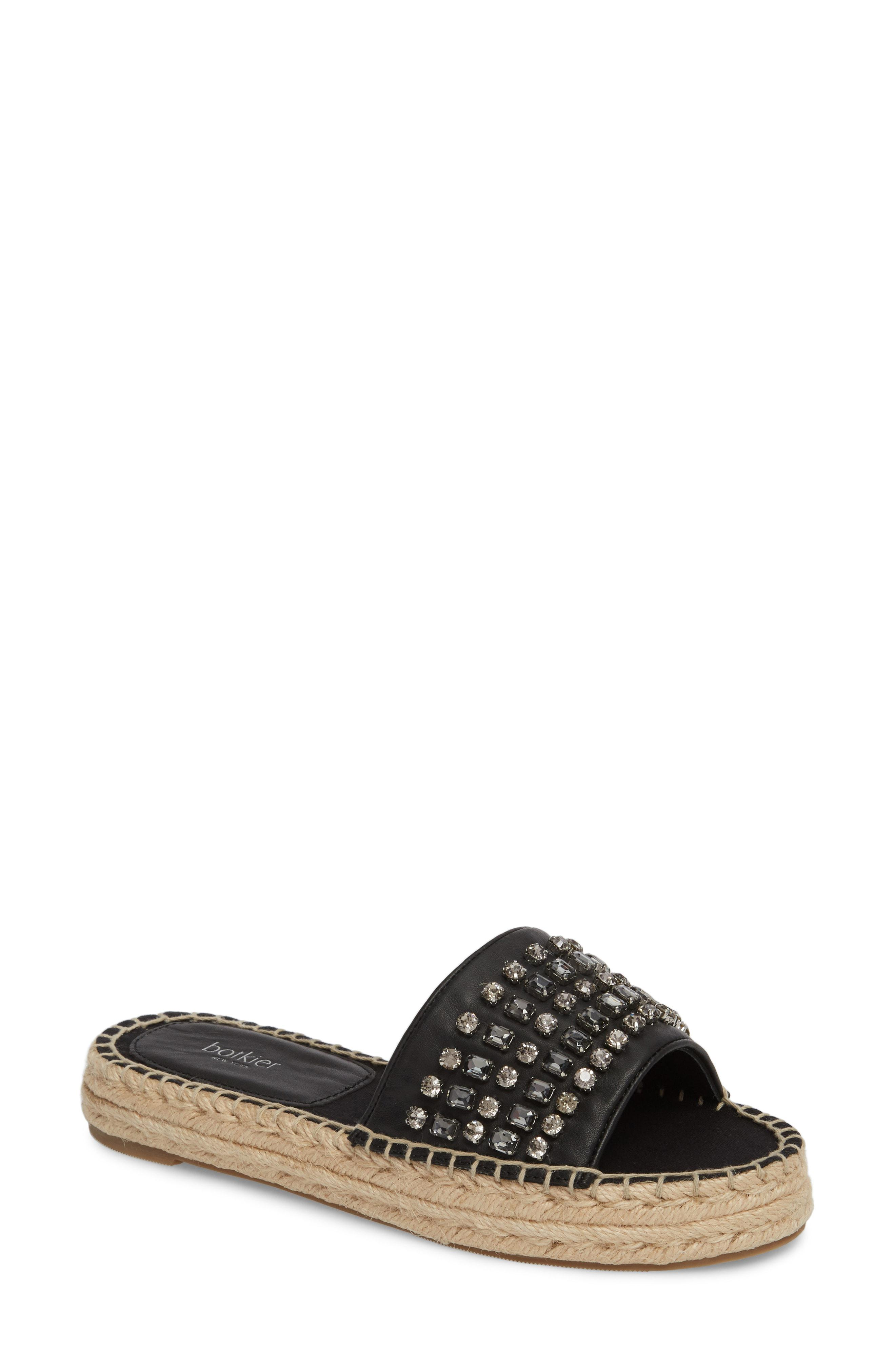 cd8e2818a Lyst - Botkier Julie Leather Jeweled Espadrille Sandals in Black