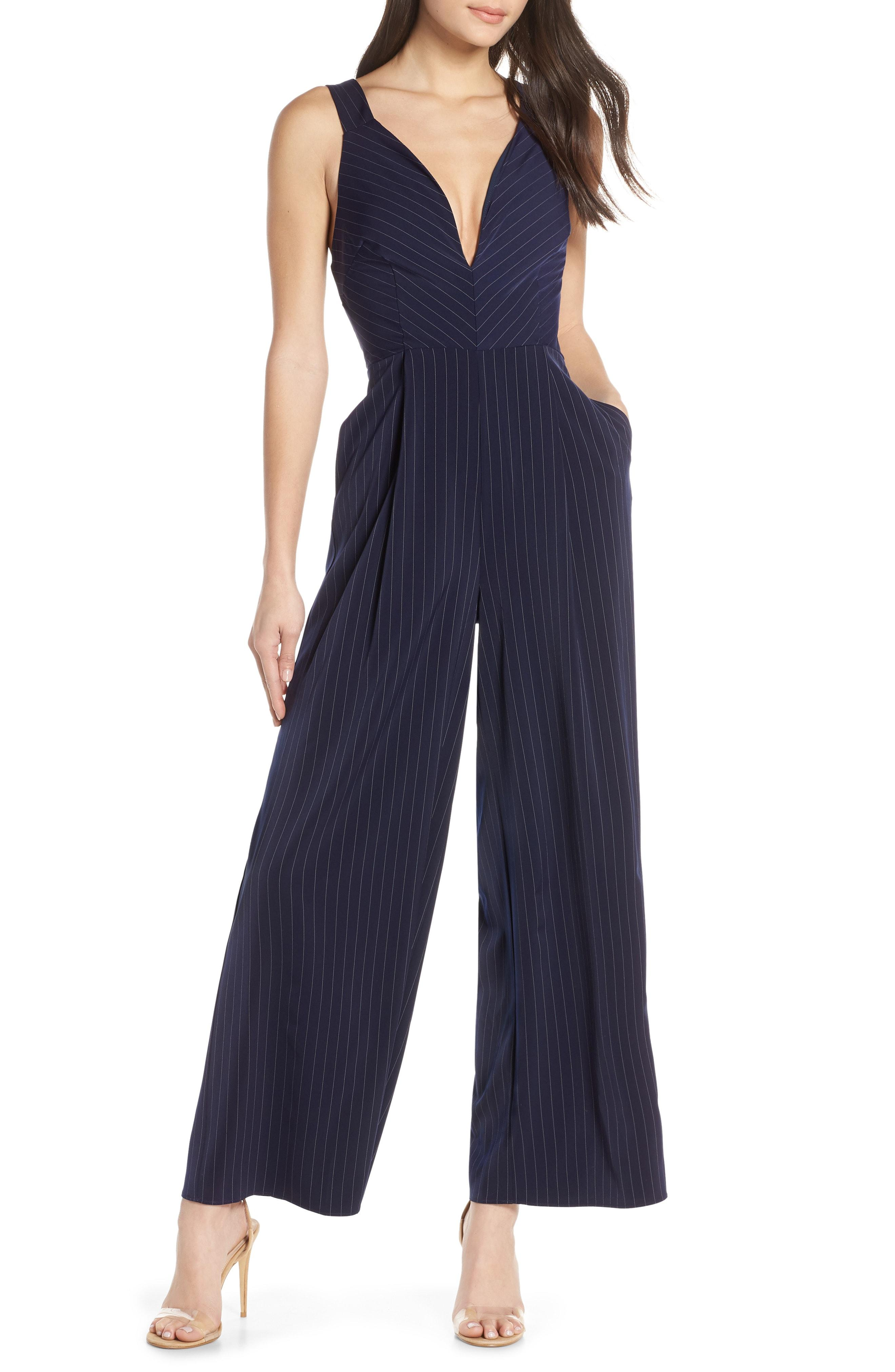 0204242cfcde Lyst - Finders Keepers Flamenco Pinstripe Jumpsuit in Blue