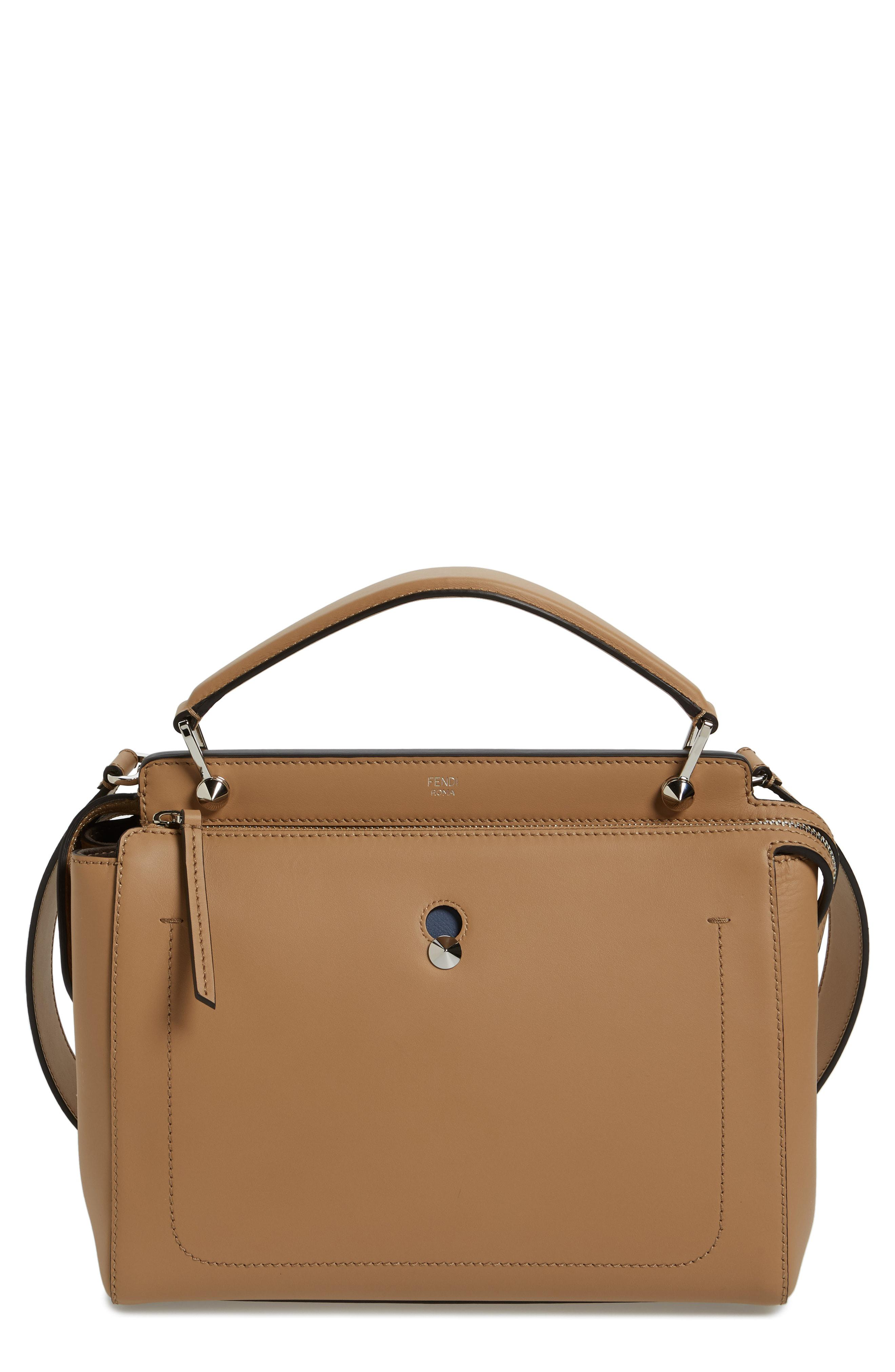 Lyst - Fendi  dotcom  Leather Satchel in Brown