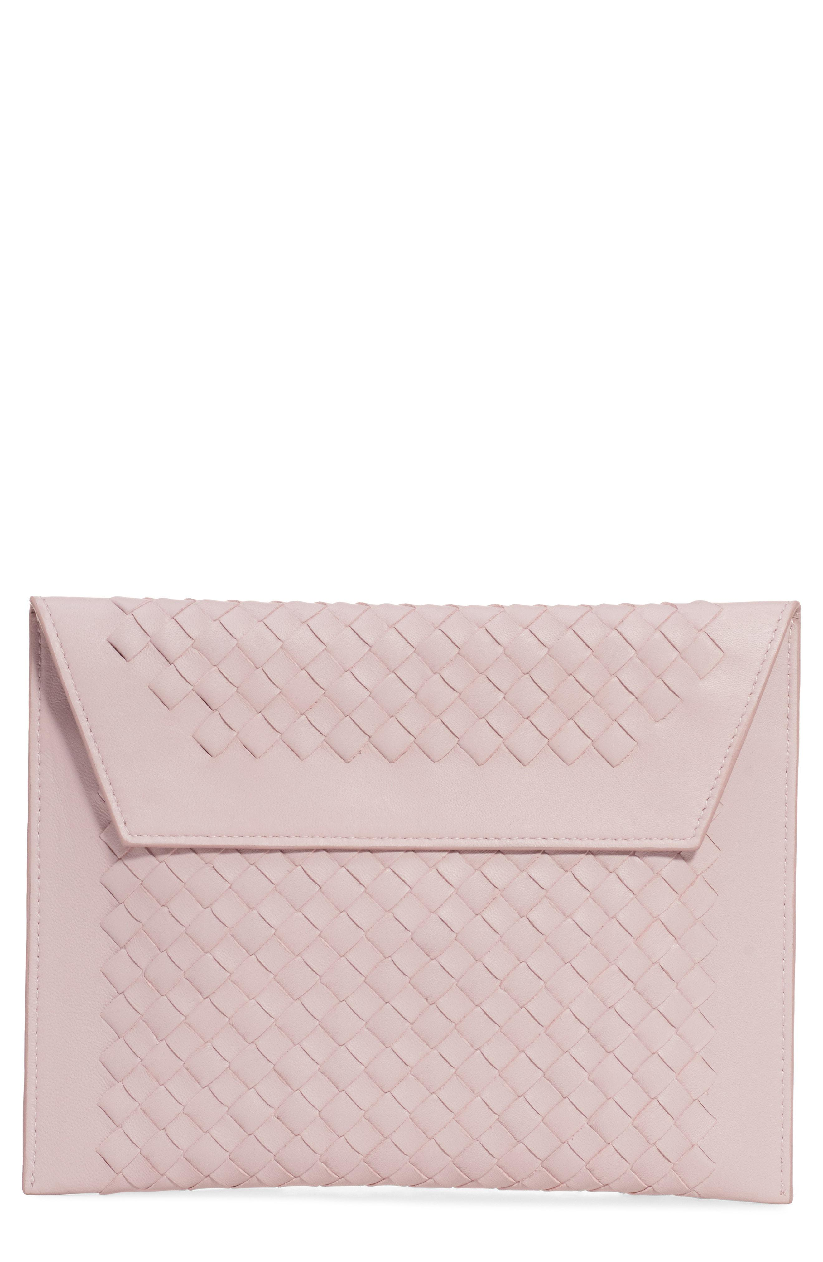 8004f36d0337 Lyst - Bottega Veneta Set Of 3 Nappa Leather Pouches - in Pink